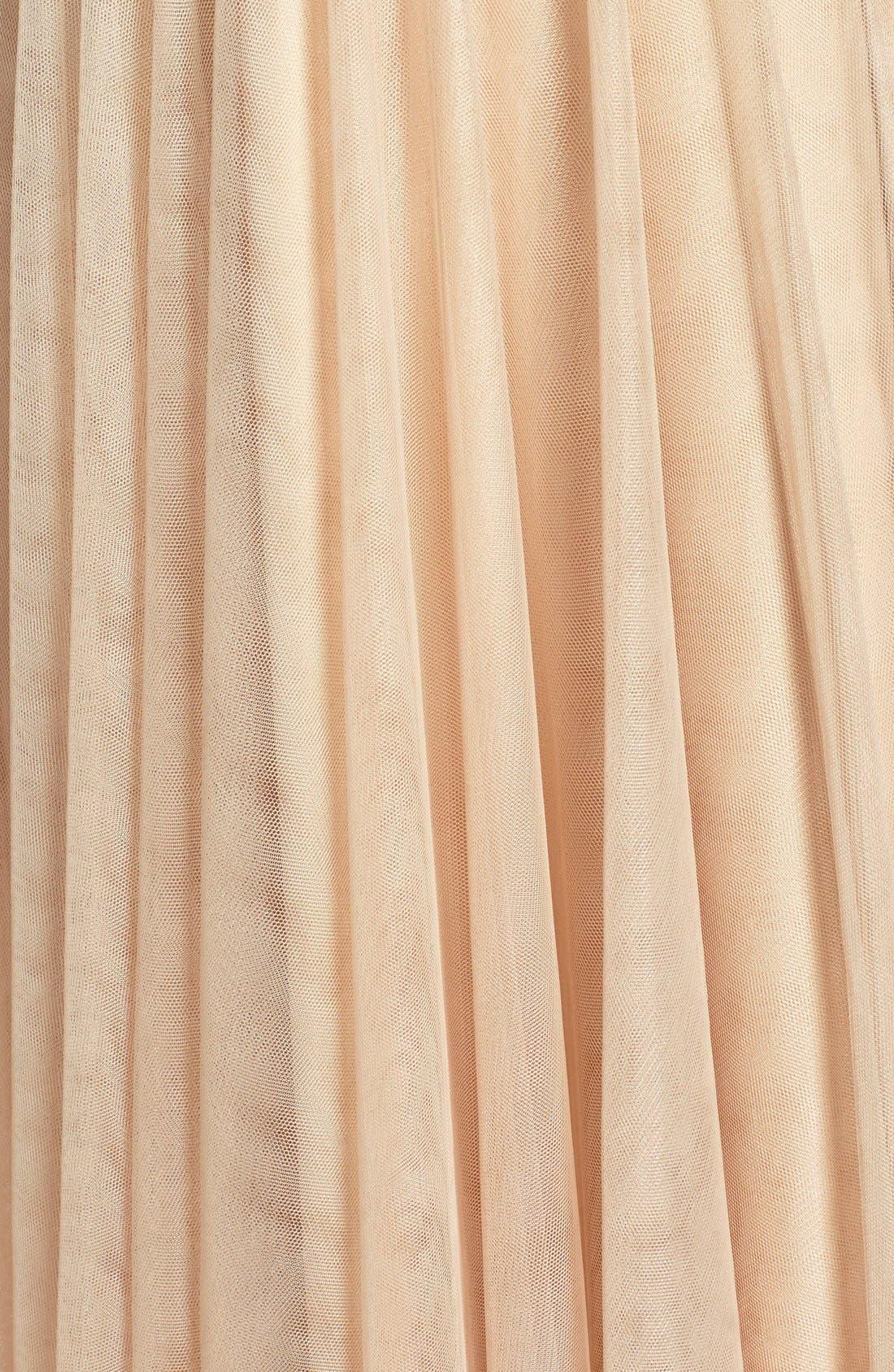 Emelie Illusion Gown,                             Alternate thumbnail 2, color,                             CASHMERE