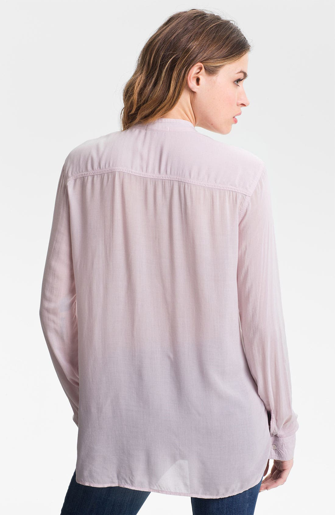 Collarless Pocket Shirt,                             Alternate thumbnail 7, color,