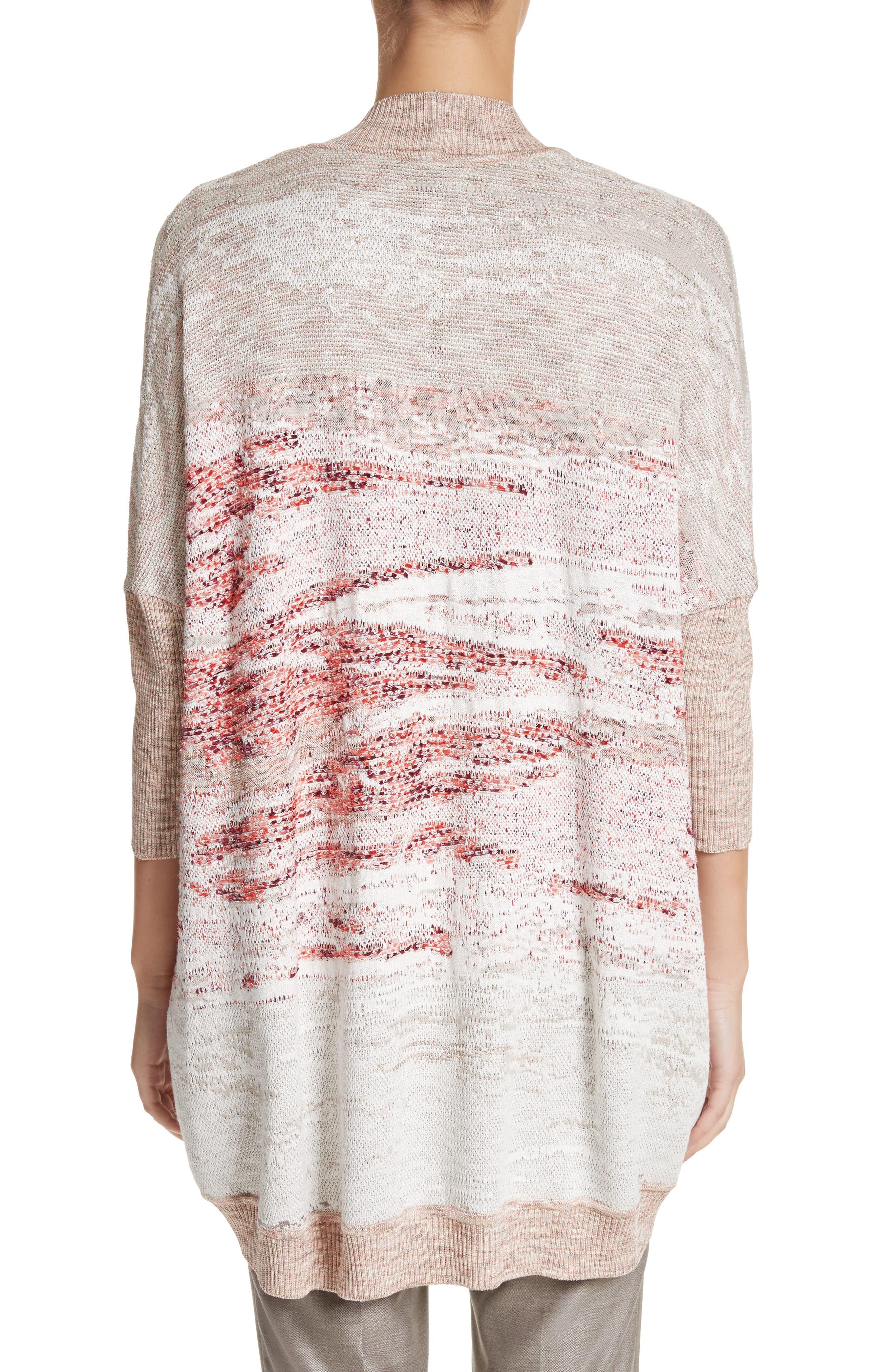 Ombré Textured Jacquard Knit Cardigan,                             Alternate thumbnail 2, color,                             050