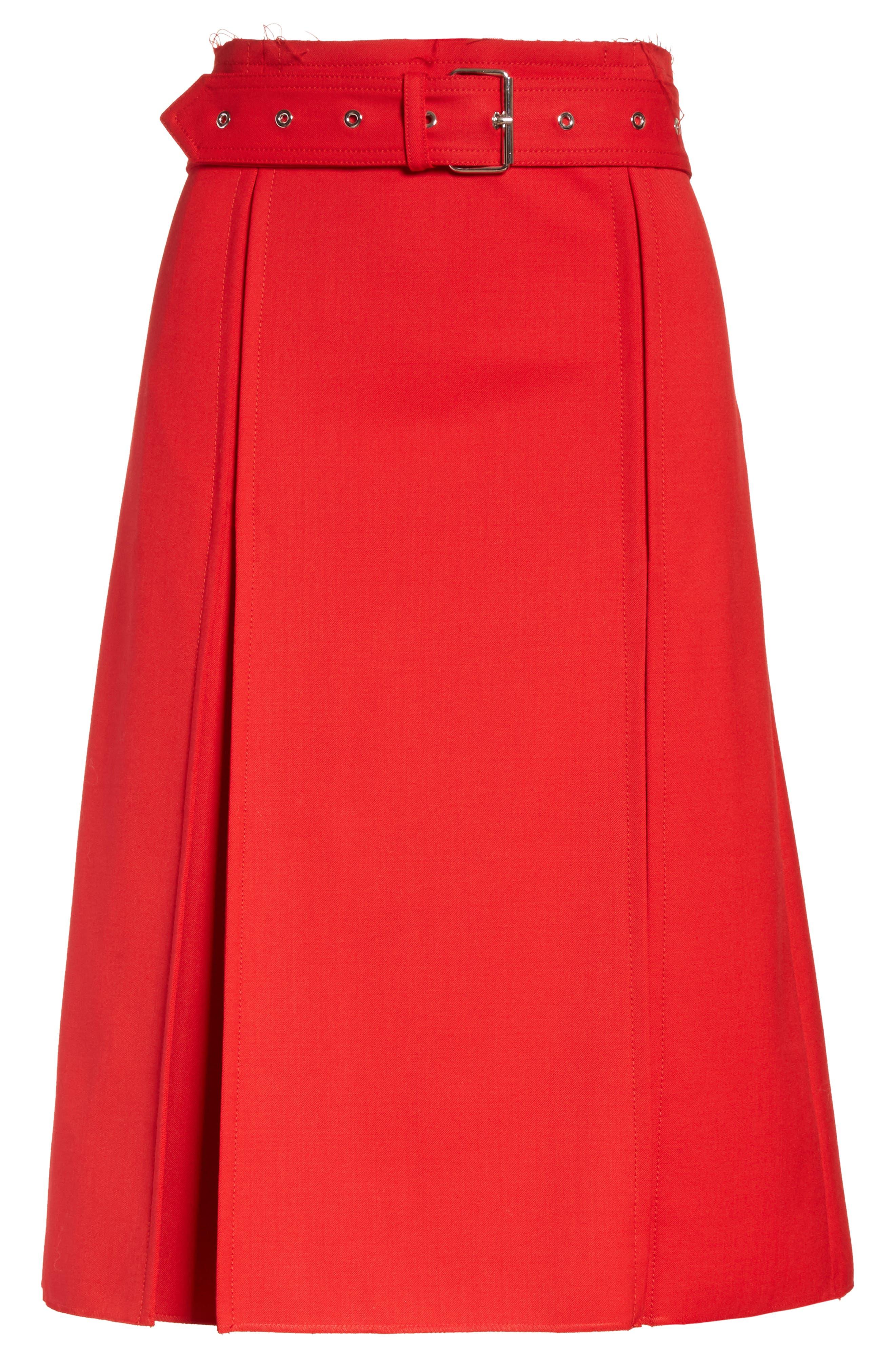 Suiting Kilt Skirt,                             Alternate thumbnail 6, color,                             600