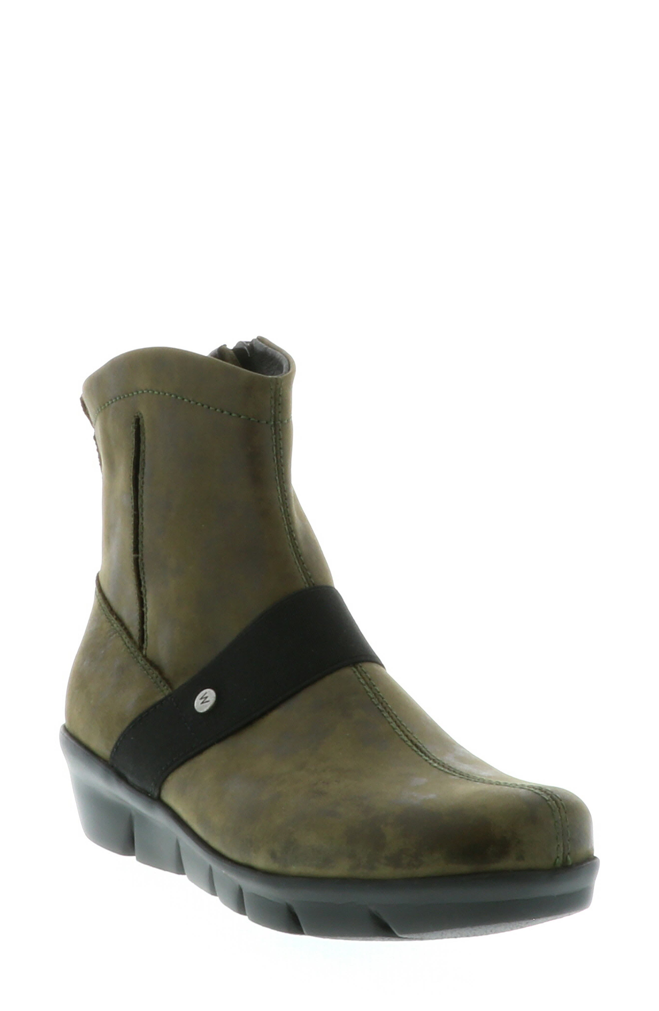 Wolky Omni Wedge Bootie-9 - Green