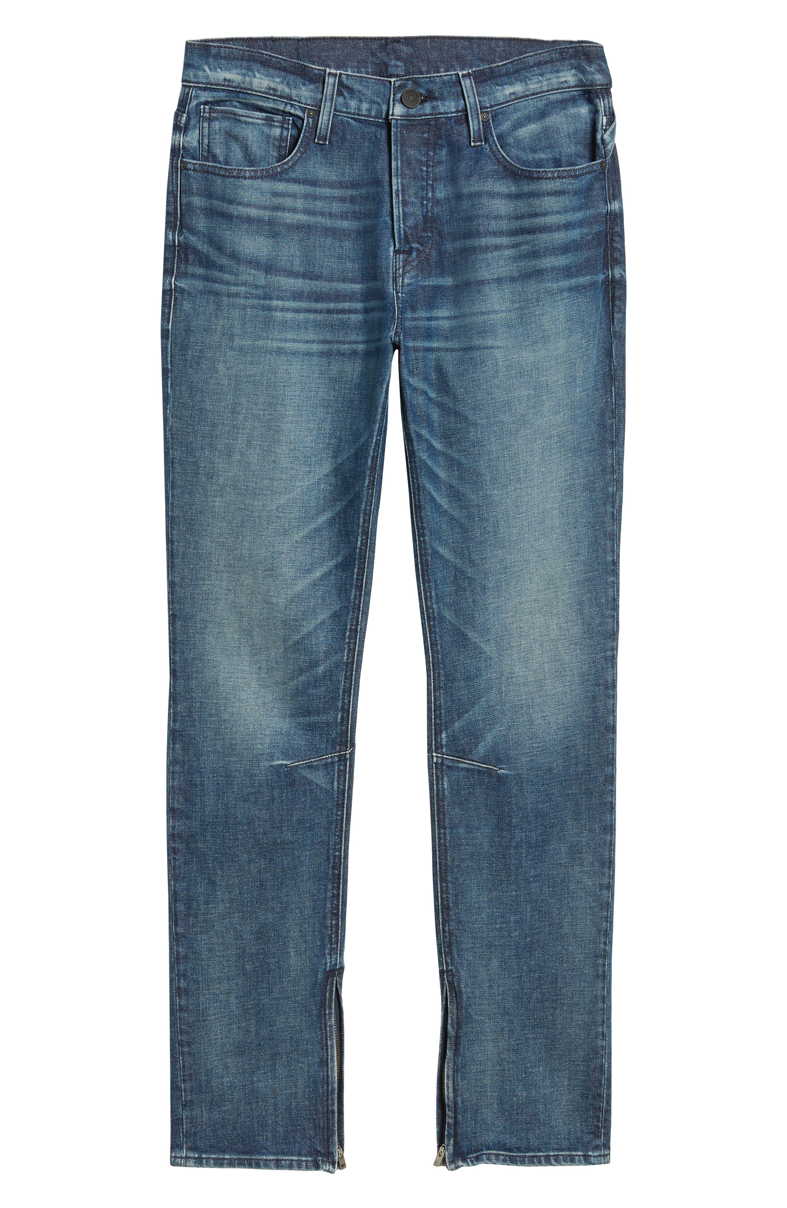 HUDSON JEANS,                             Vaughn Biker Skinny Fit Jeans,                             Alternate thumbnail 6, color,                             422