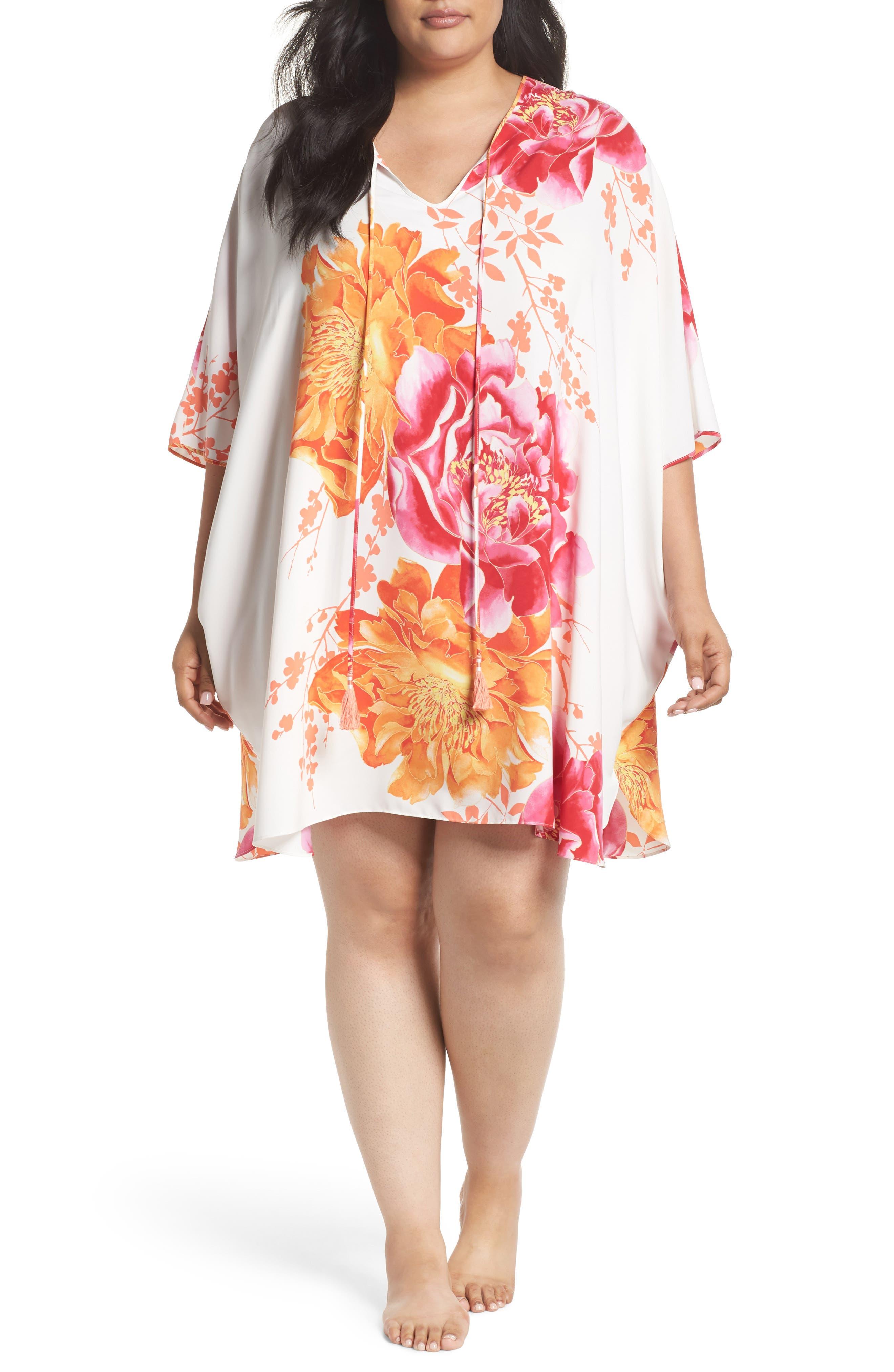 Bali Satin Caftan,                         Main,                         color, WARM WHITE