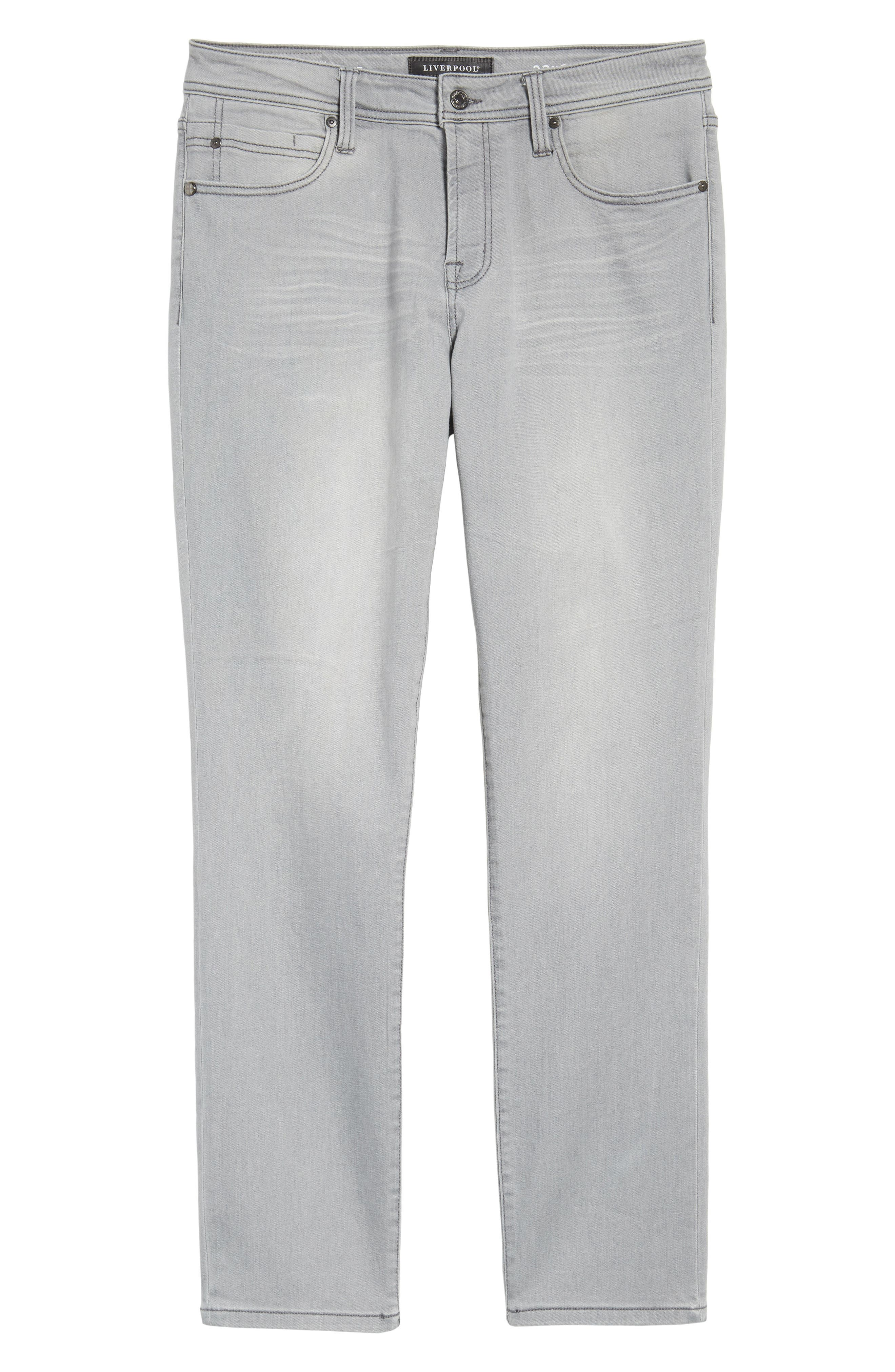 Jeans Co. Kingston Slim Straight Leg Jeans,                             Alternate thumbnail 6, color,                             COAL MINE DARK