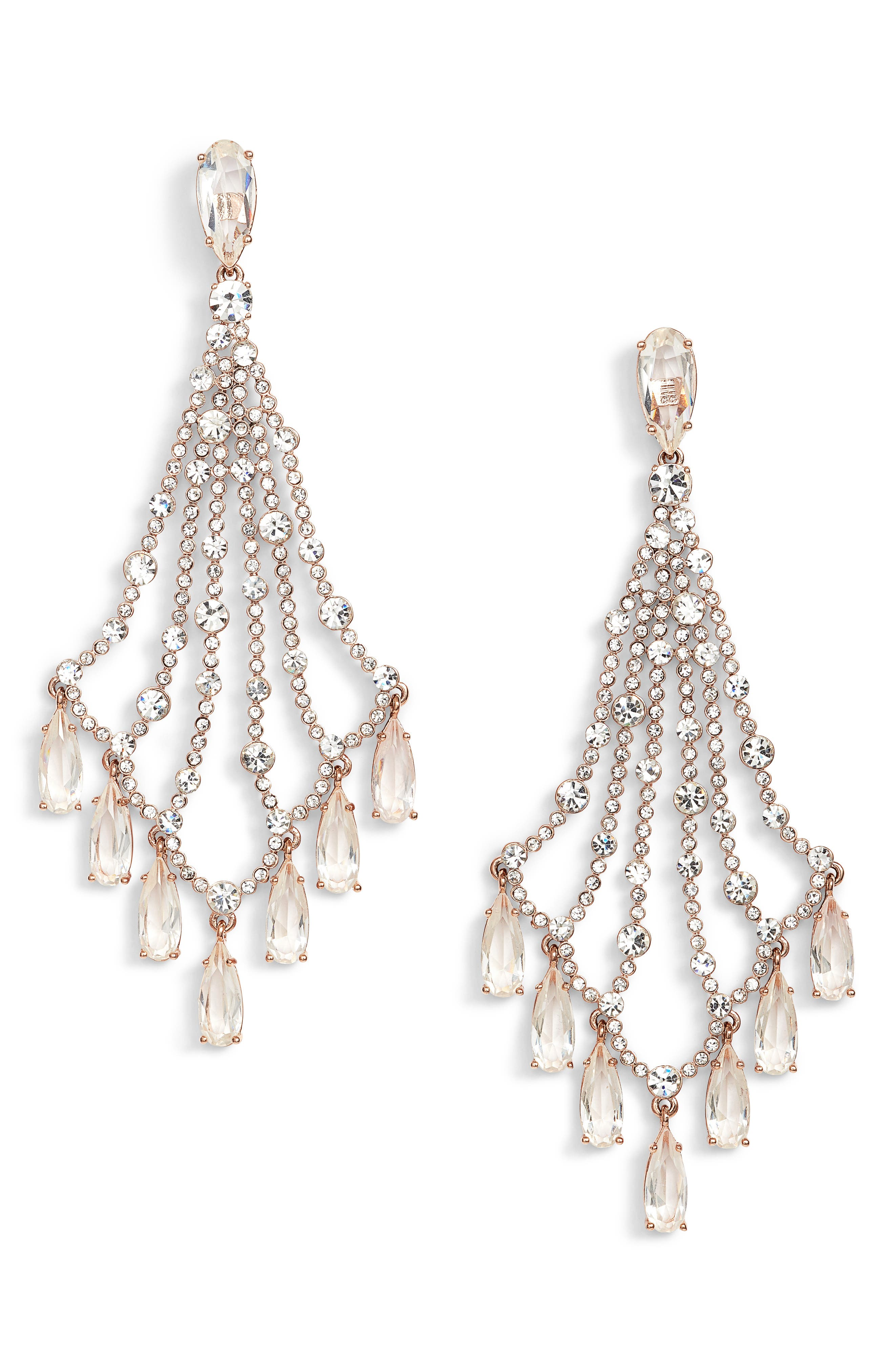cascade drop earrings,                             Main thumbnail 1, color,                             650