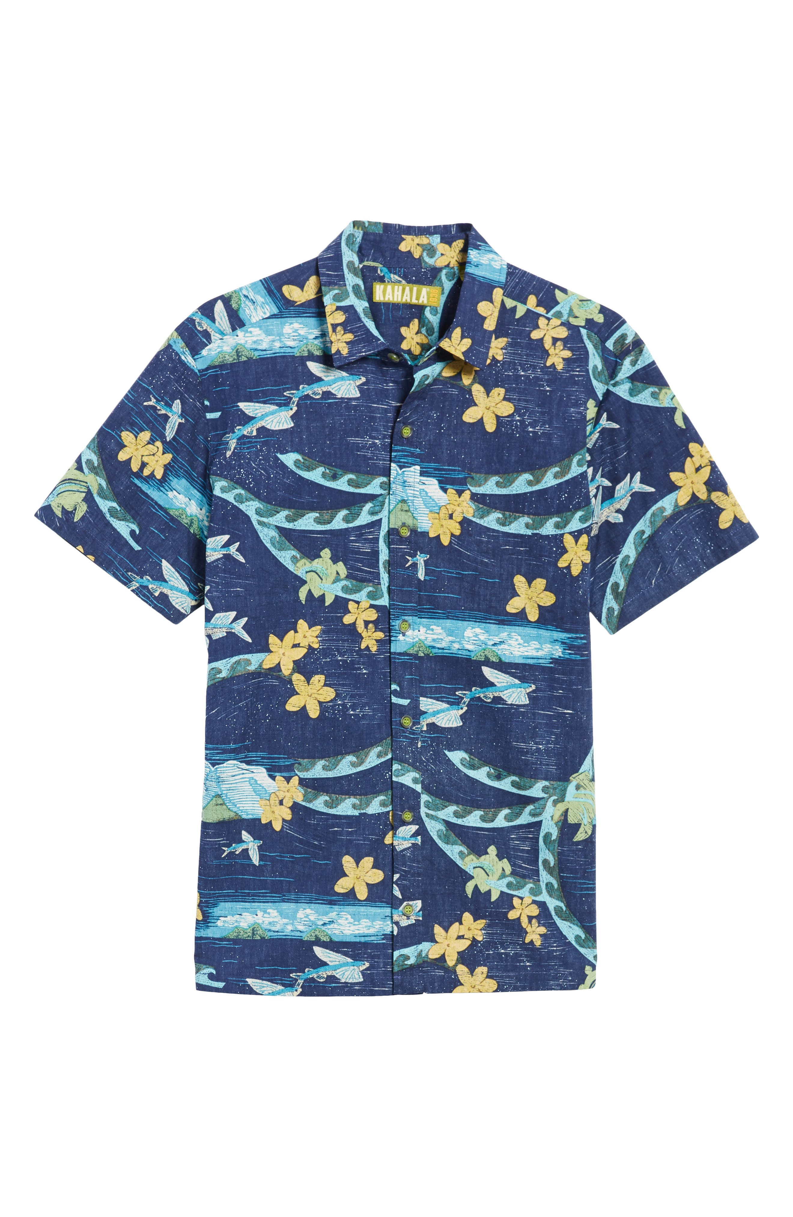 Sea Flight Trim Fit Sport Shirt,                             Alternate thumbnail 6, color,                             415
