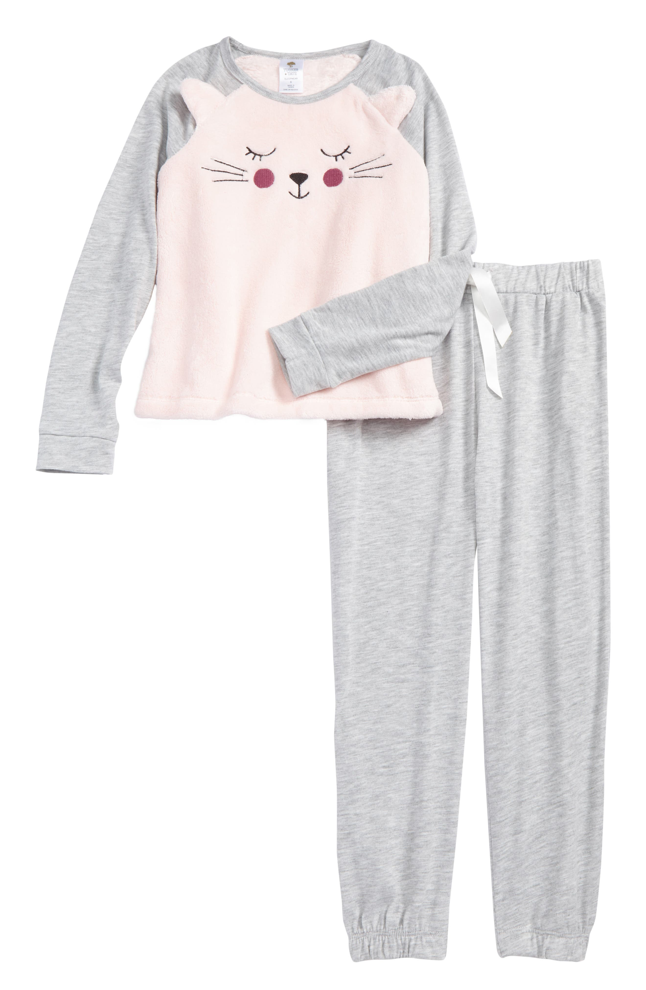 Animal Face Two-Piece Pajamas,                             Main thumbnail 1, color,                             050