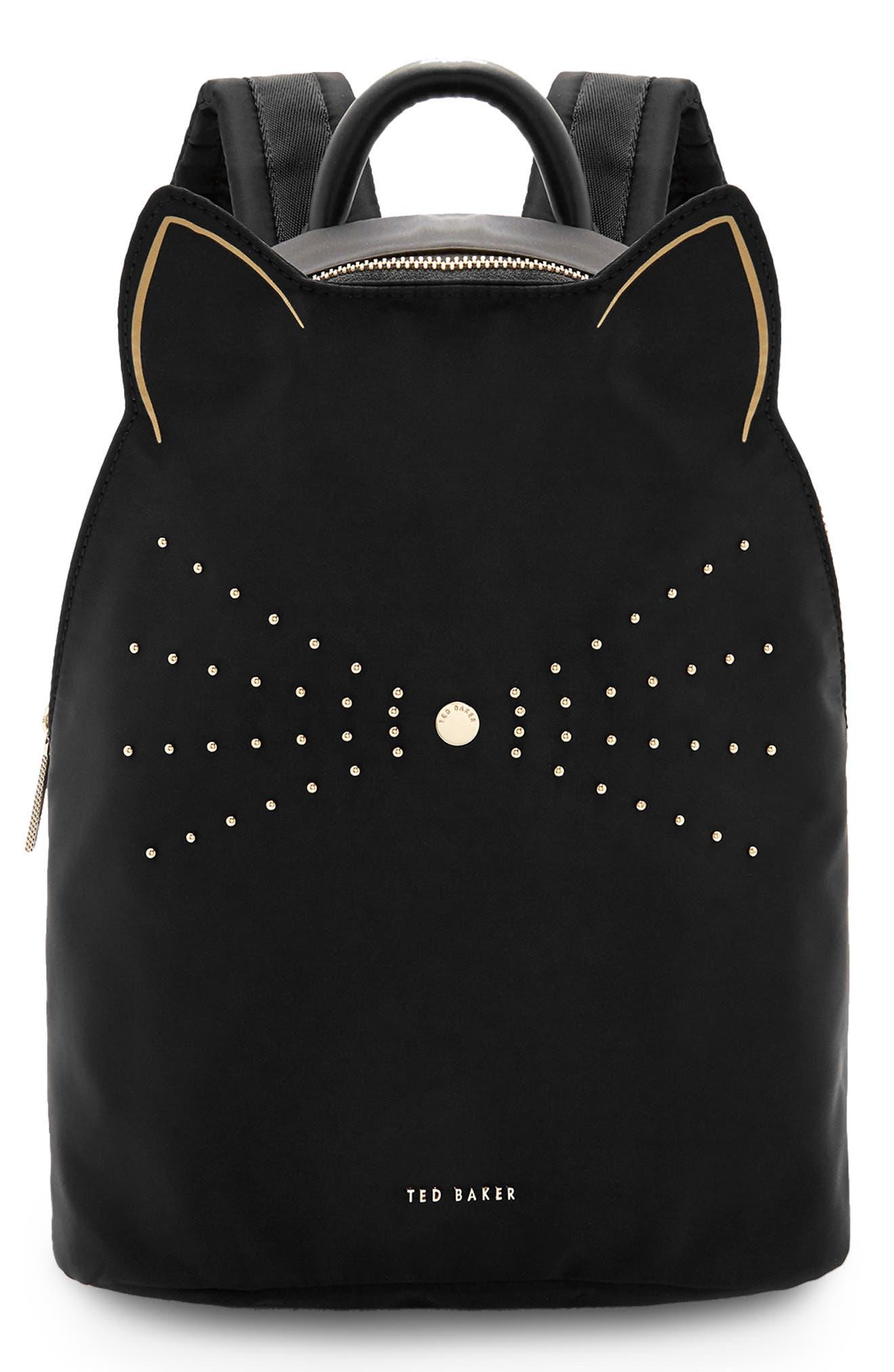 Katt Nylon Backpack - Black