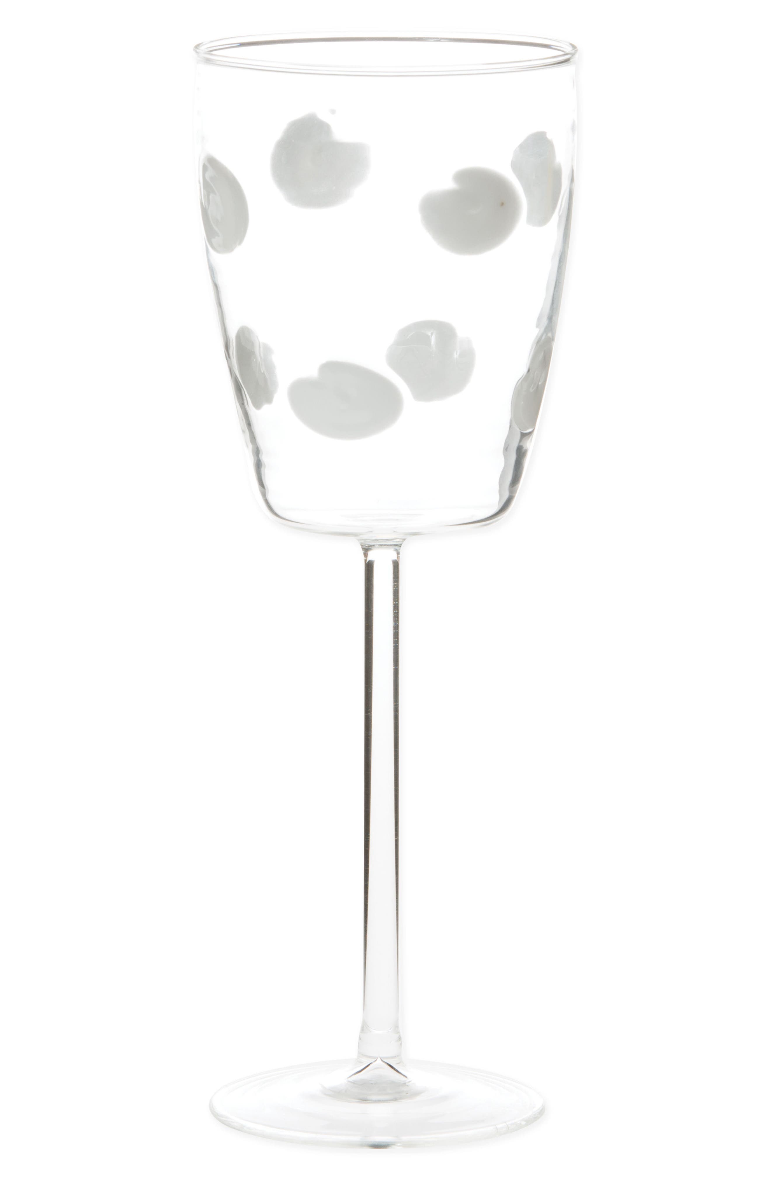 Drop Wine Glass,                             Main thumbnail 1, color,                             WHITE