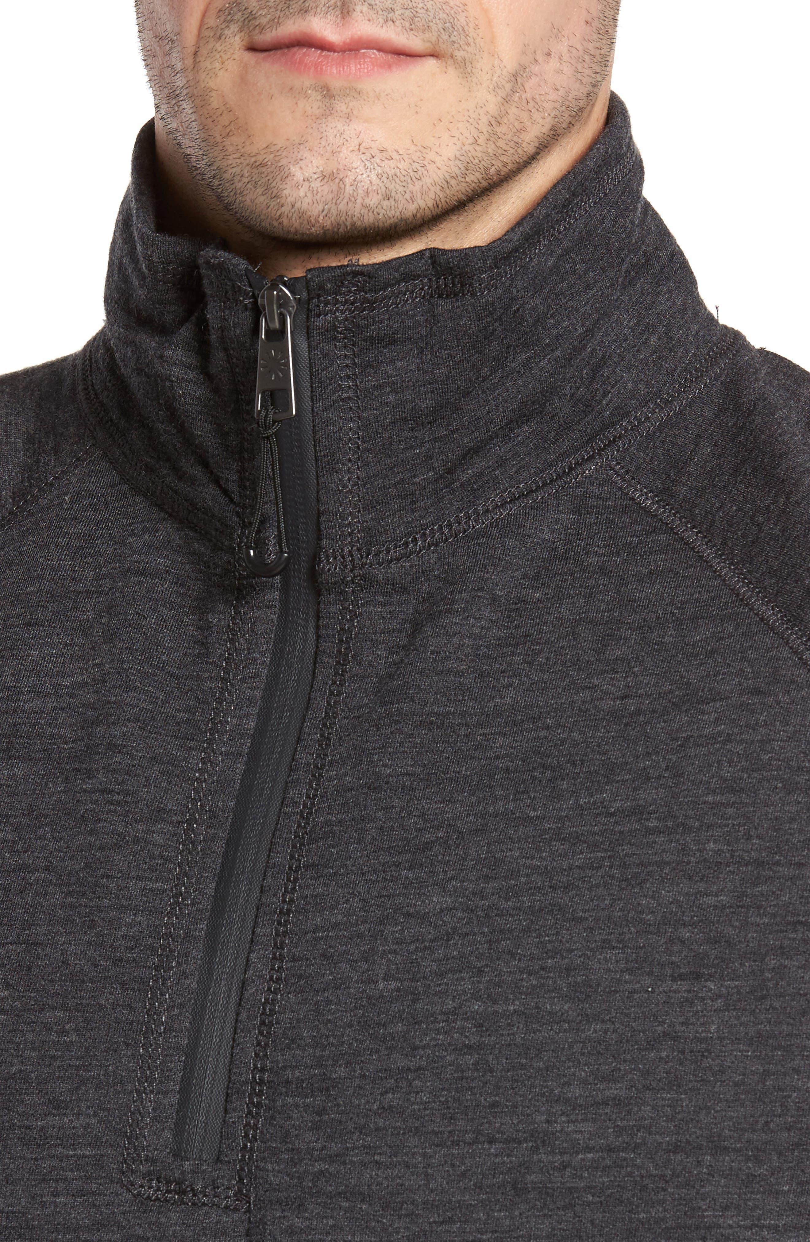 Merino Wool Quarter Zip Pullover,                             Alternate thumbnail 4, color,                             010