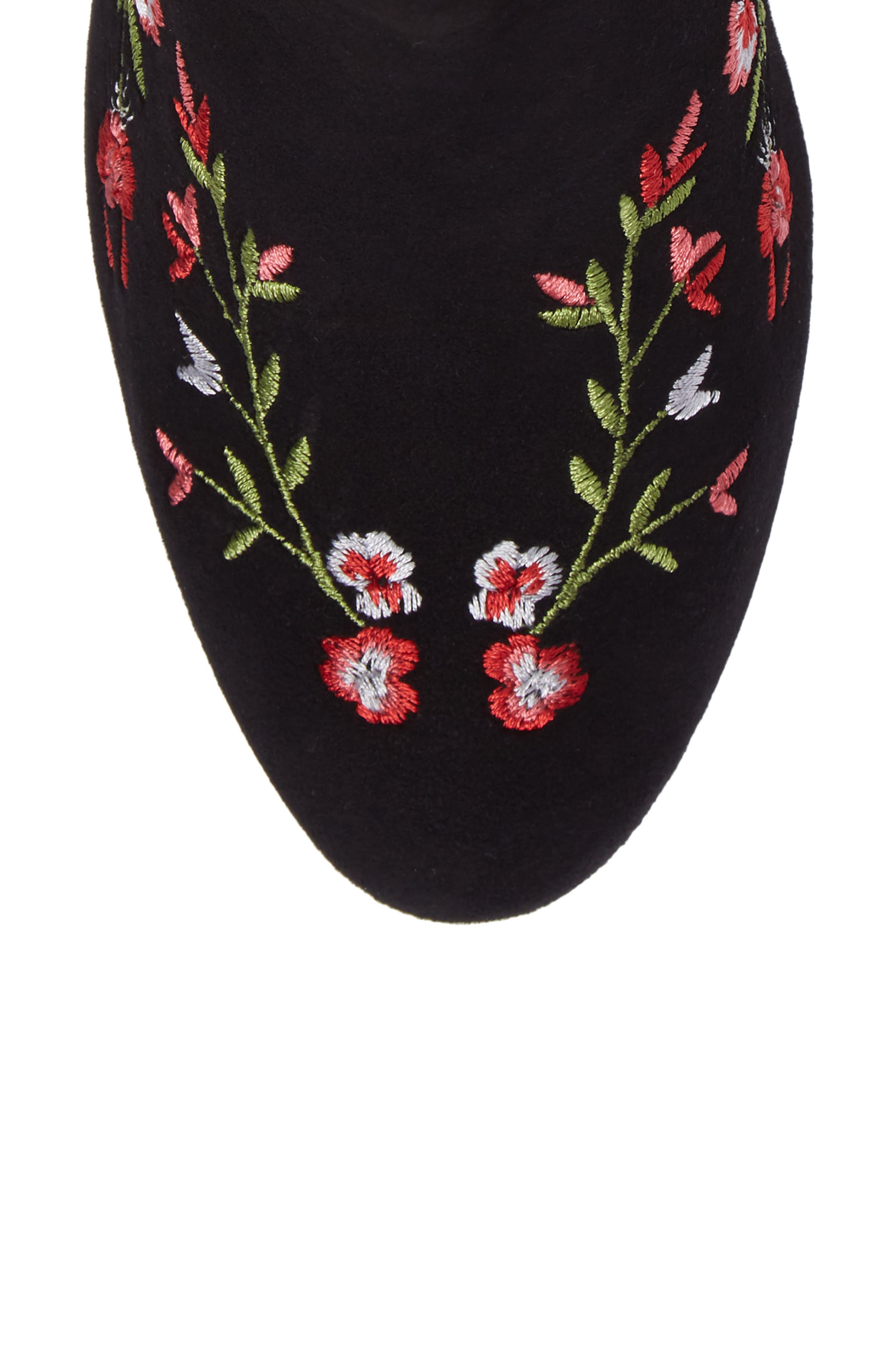 Veronaa Embroidered Bootie,                             Alternate thumbnail 5, color,                             003