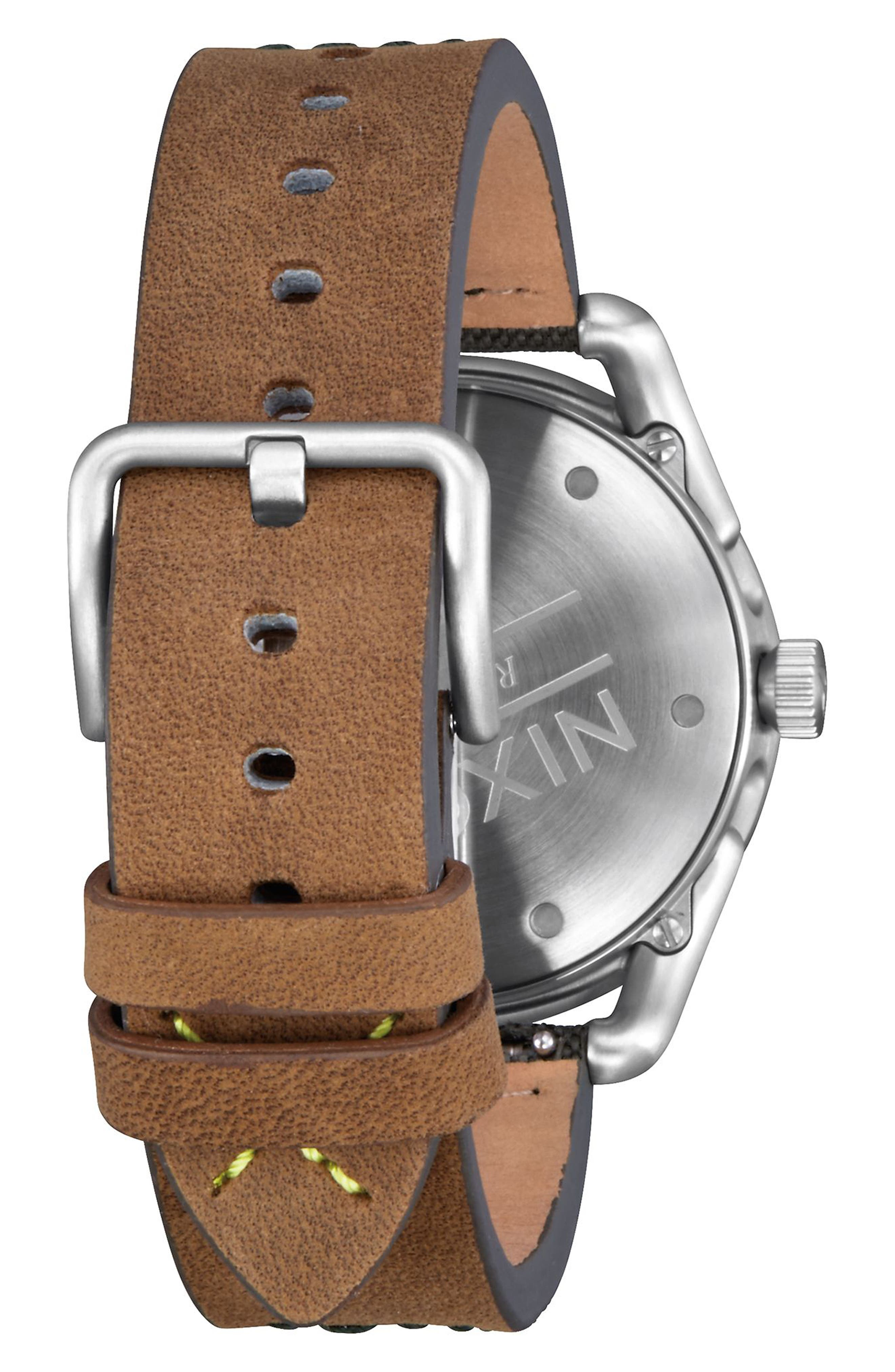 C39 Leather Strap Watch, 39mm,                             Alternate thumbnail 8, color,