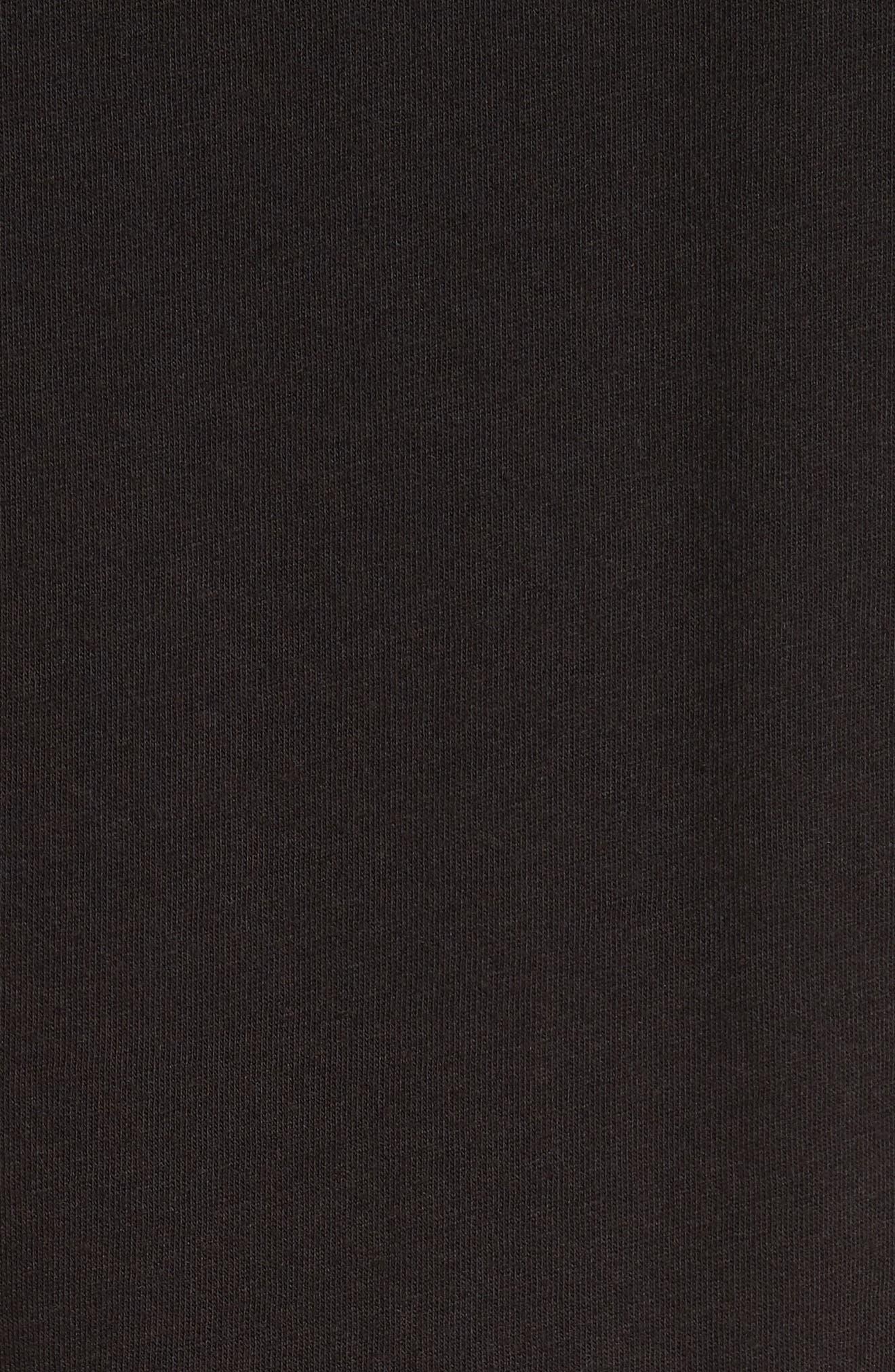 Johnny Chest Palm Stripe Graphic T-Shirt,                             Alternate thumbnail 5, color,                             BLACK