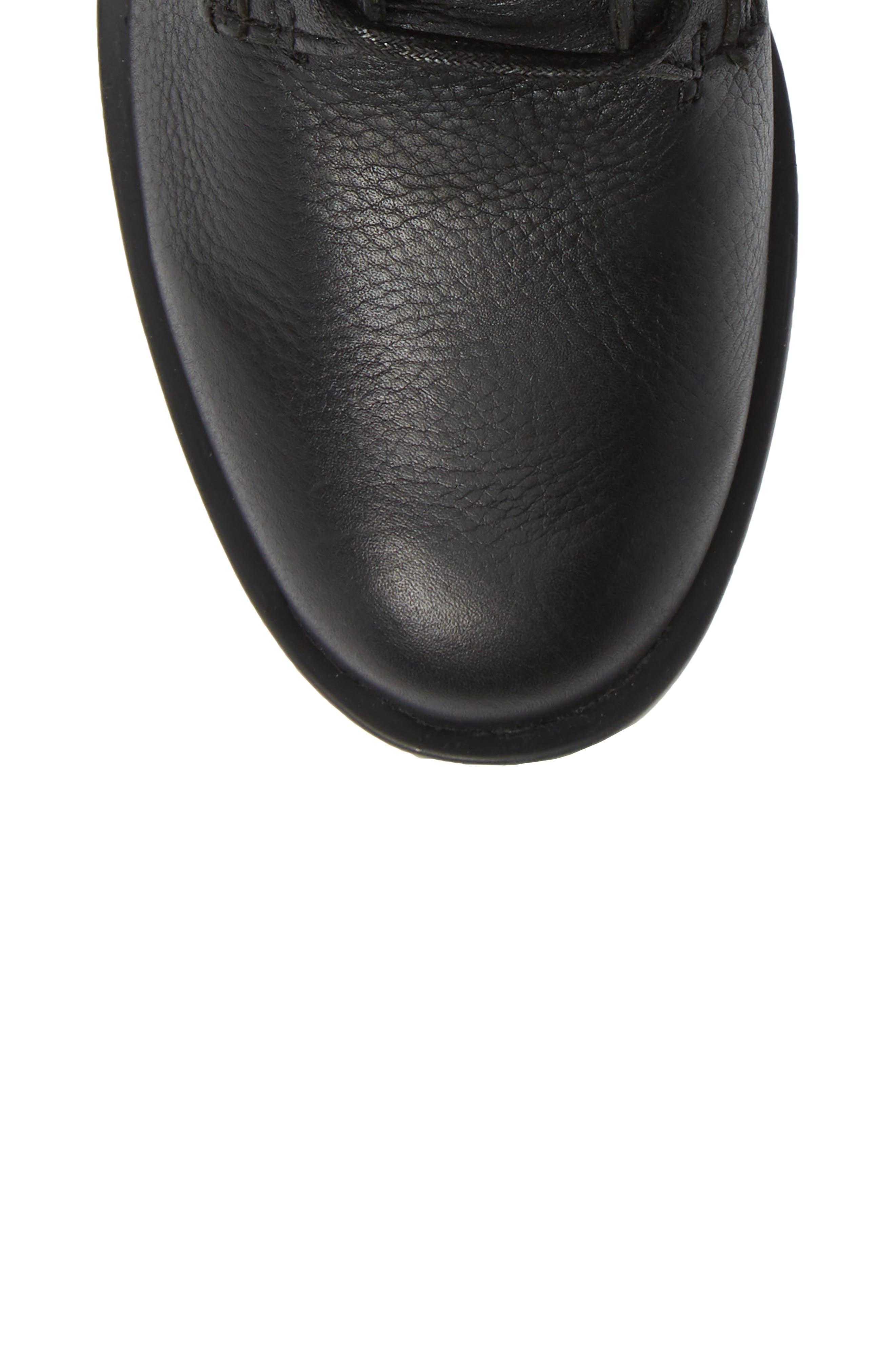 Phoenix Lace-Up Boot,                             Alternate thumbnail 5, color,                             BLACK