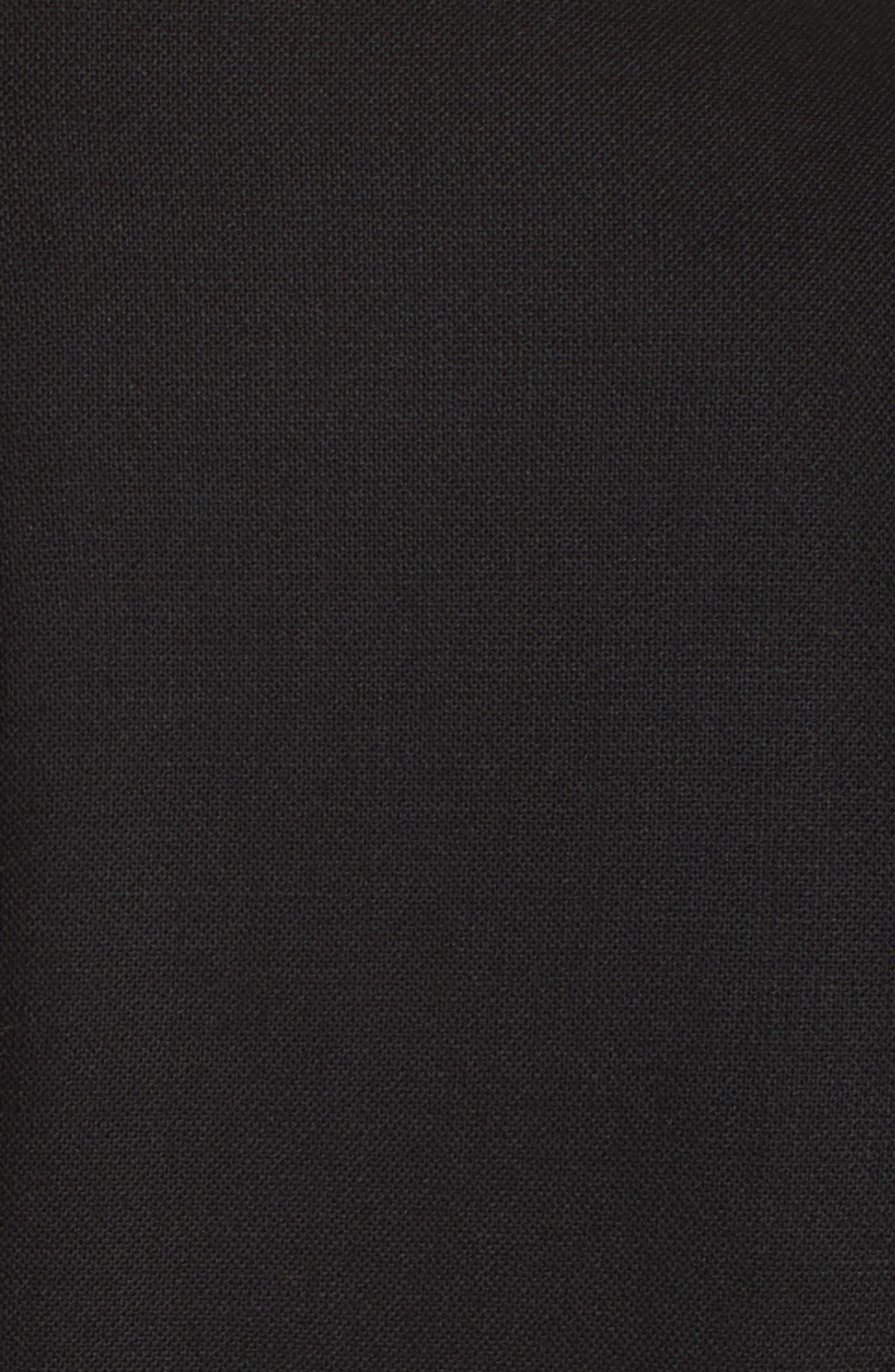 MAX MARA,                             Karub Belted Stretch Wool Dress,                             Alternate thumbnail 5, color,                             001