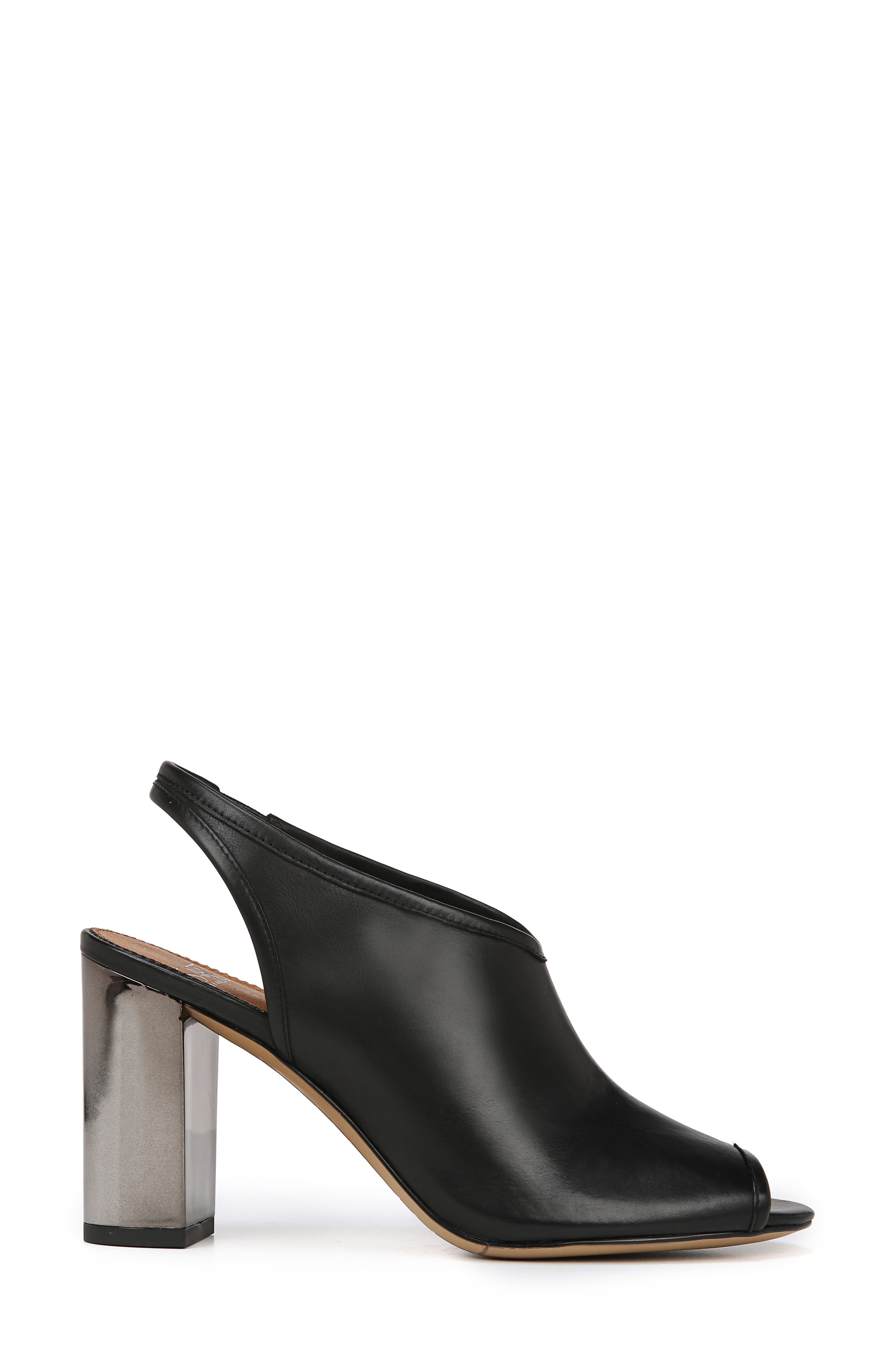 A-Osbourne Slingback Sandal,                             Alternate thumbnail 3, color,                             BLACK FOULARD LEATHER