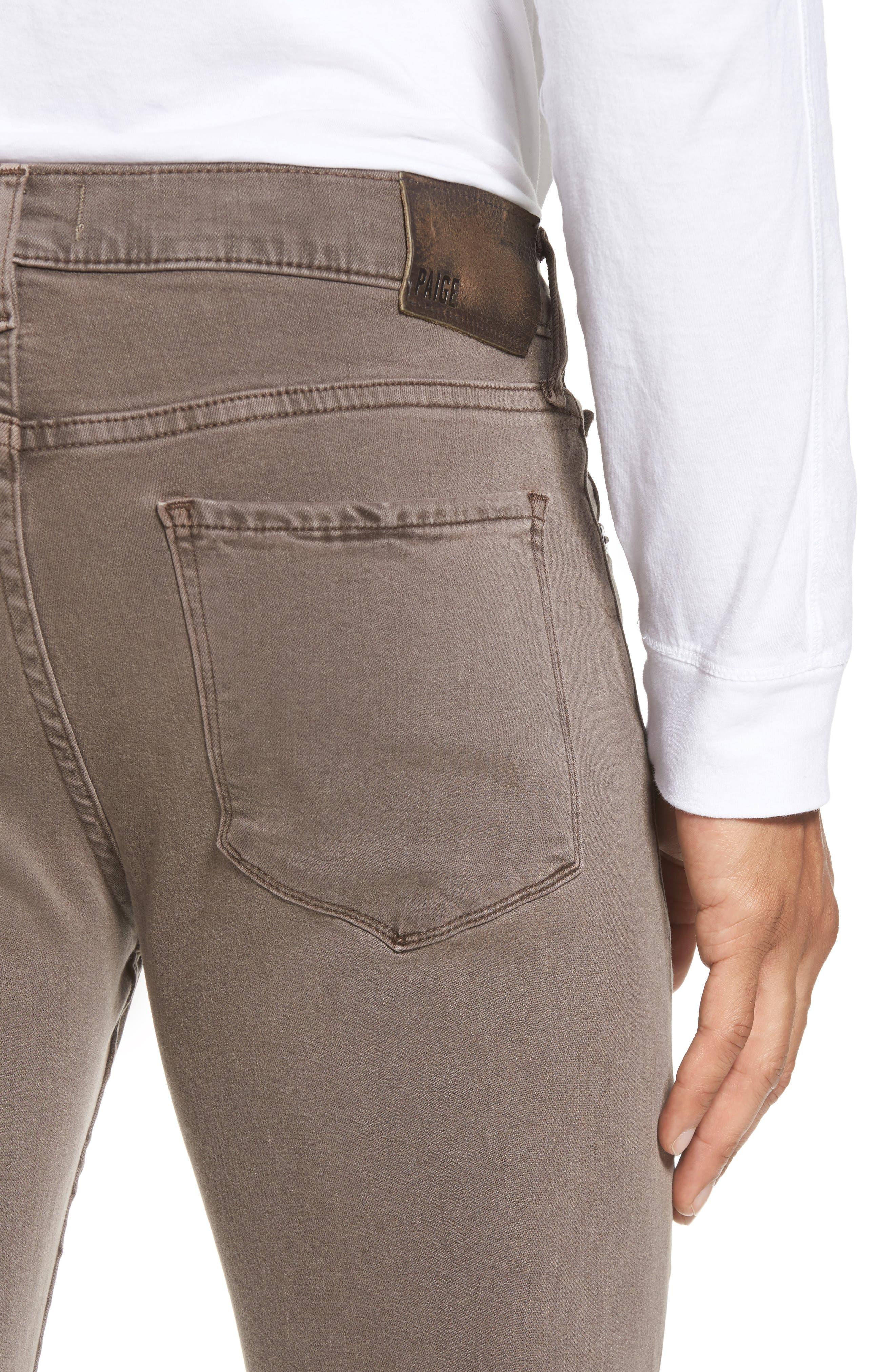 Transcend - Lennox Slim Fit Jeans,                             Alternate thumbnail 4, color,                             VINTAGE SAND BAR