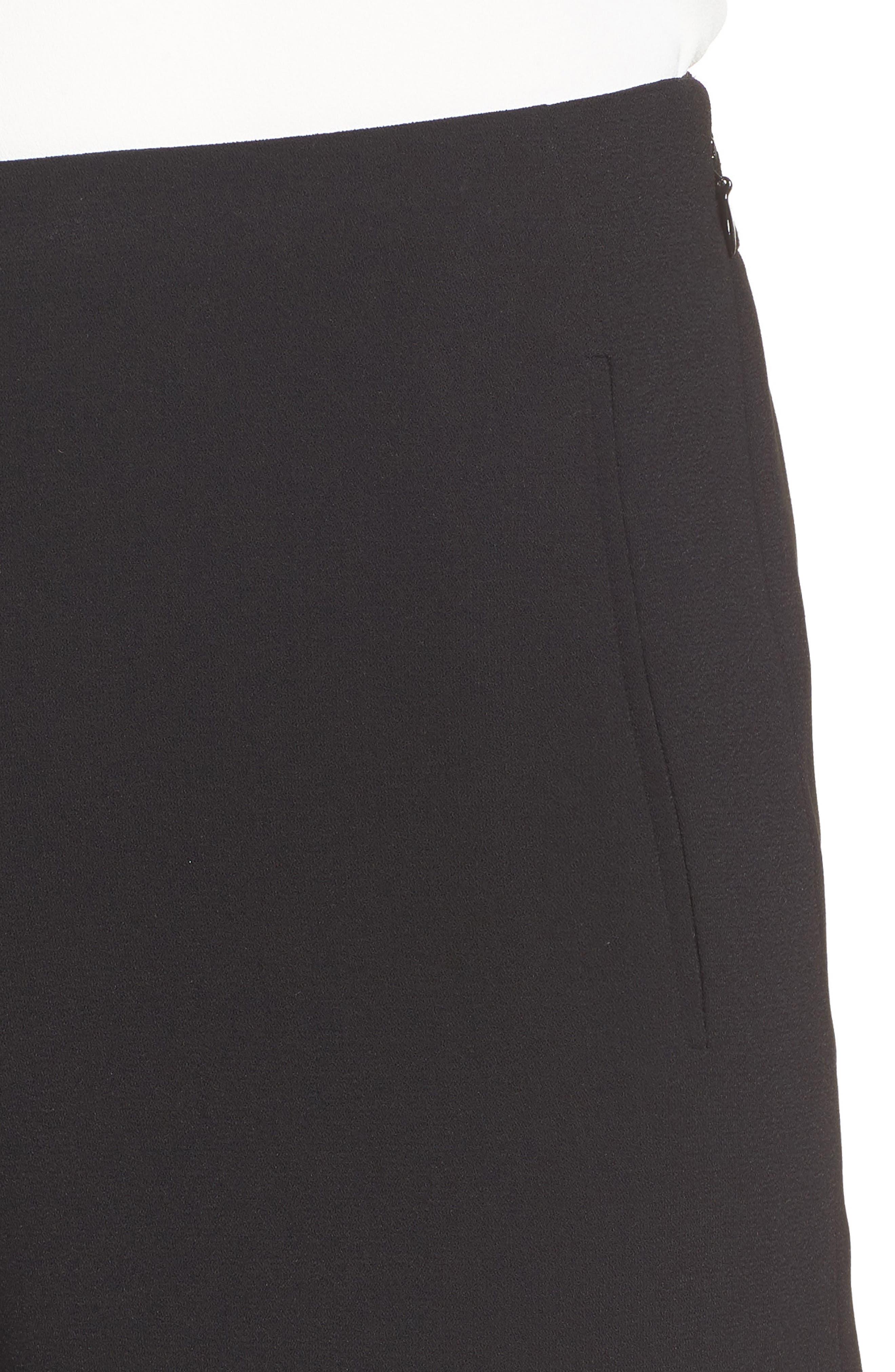 Crepe Straight Leg Pants,                             Alternate thumbnail 5, color,                             006