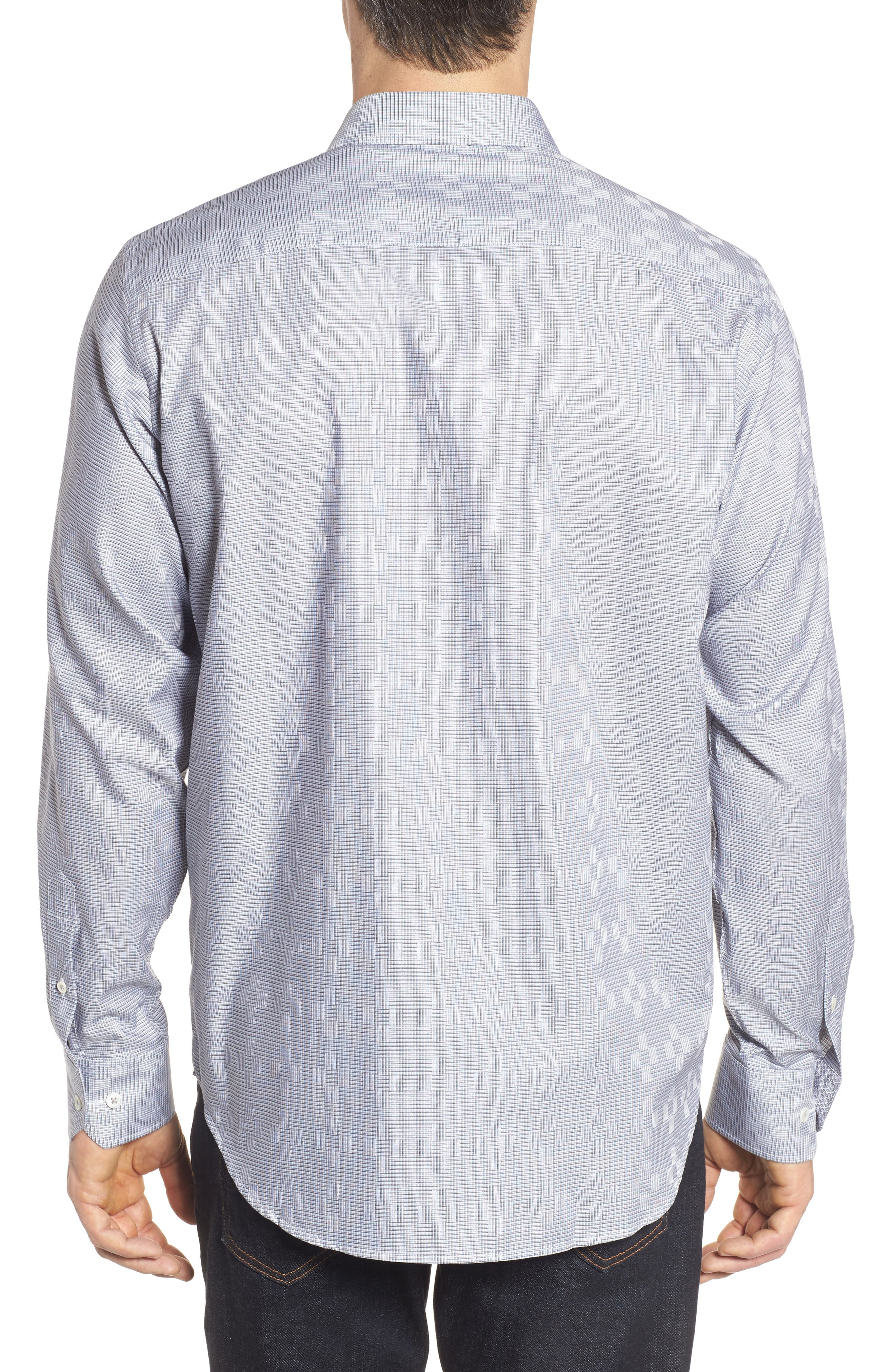 Classic Fit Print Sport Shirt,                             Alternate thumbnail 2, color,                             020