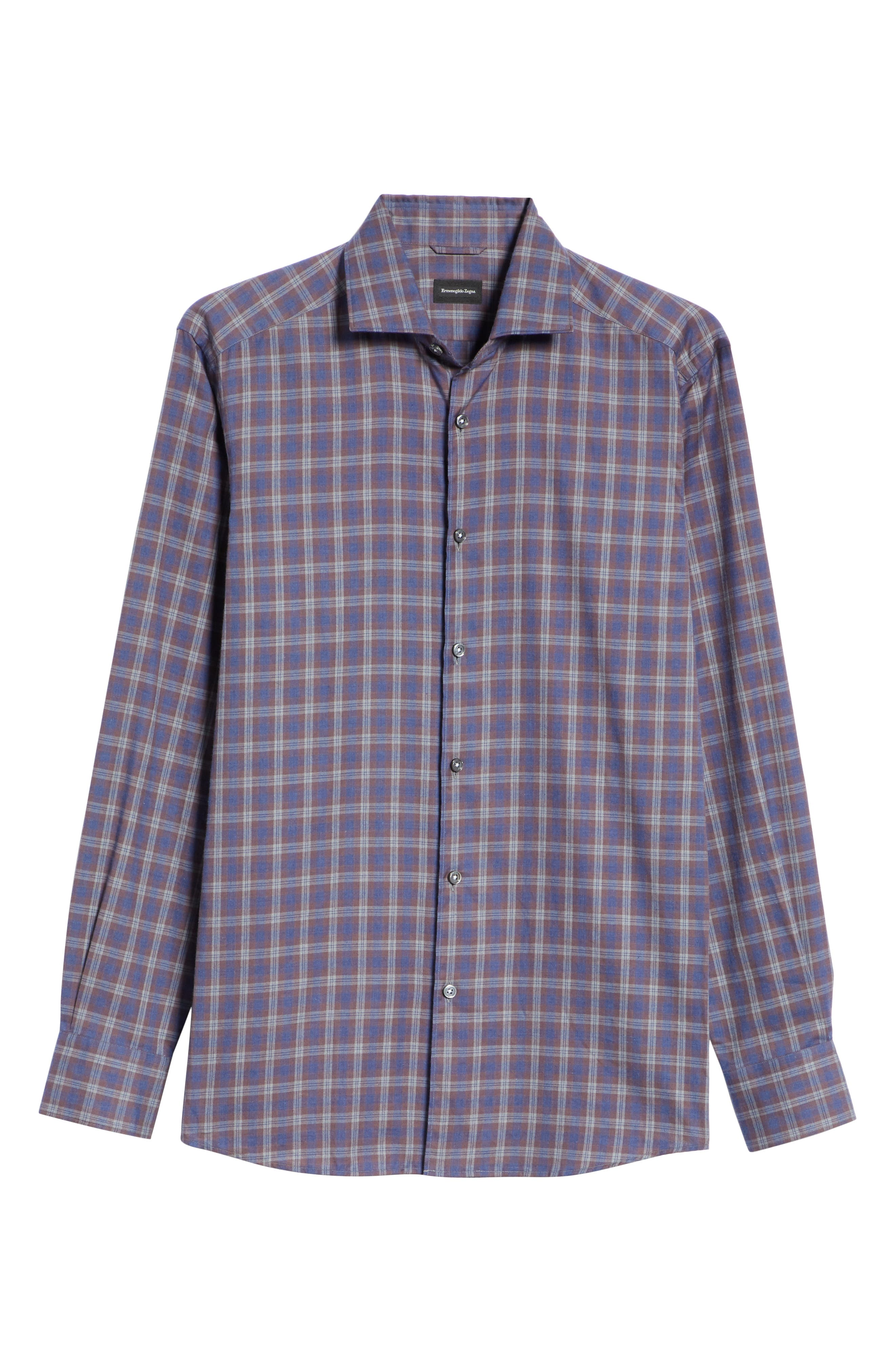 Classic Fit Check Sport Shirt,                             Alternate thumbnail 6, color,                             NAVY