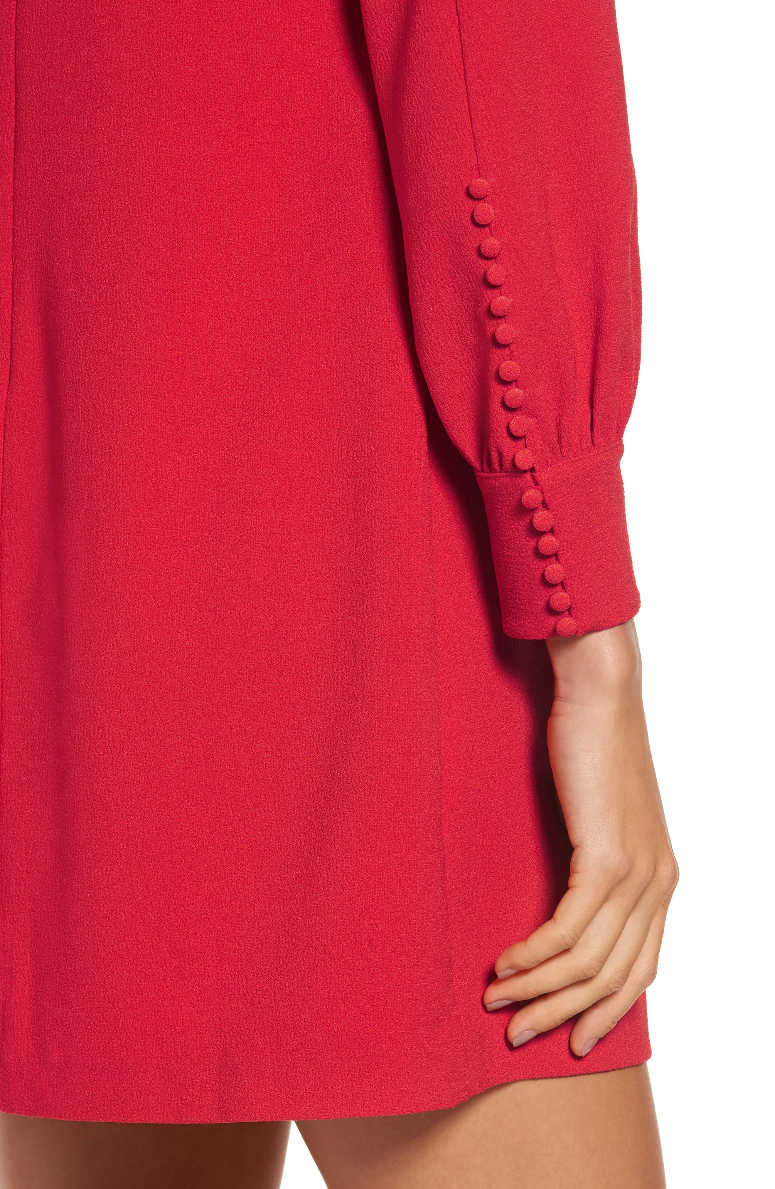 Button Detail Shift Dress,                             Alternate thumbnail 4, color,