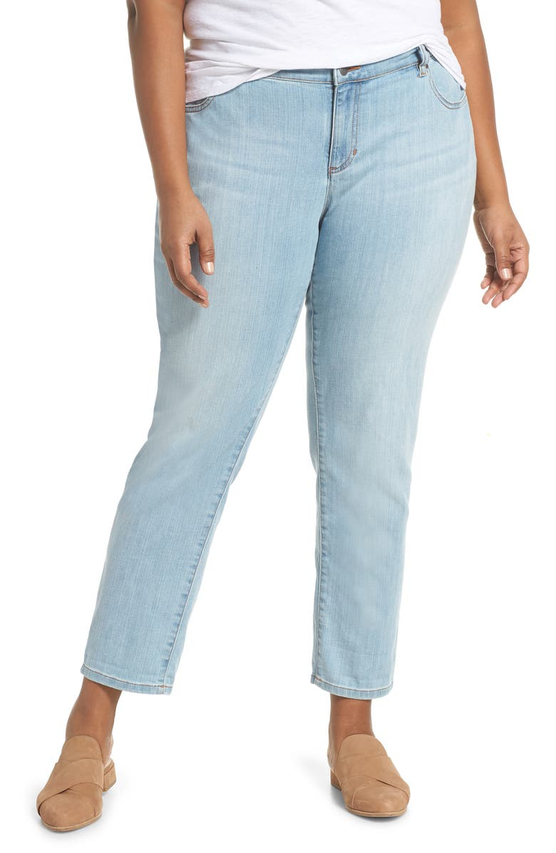 d48f9d9fd3c95 Eileen Fisher Boyfriend Jeans (Velvet Grey) (Plus Size)