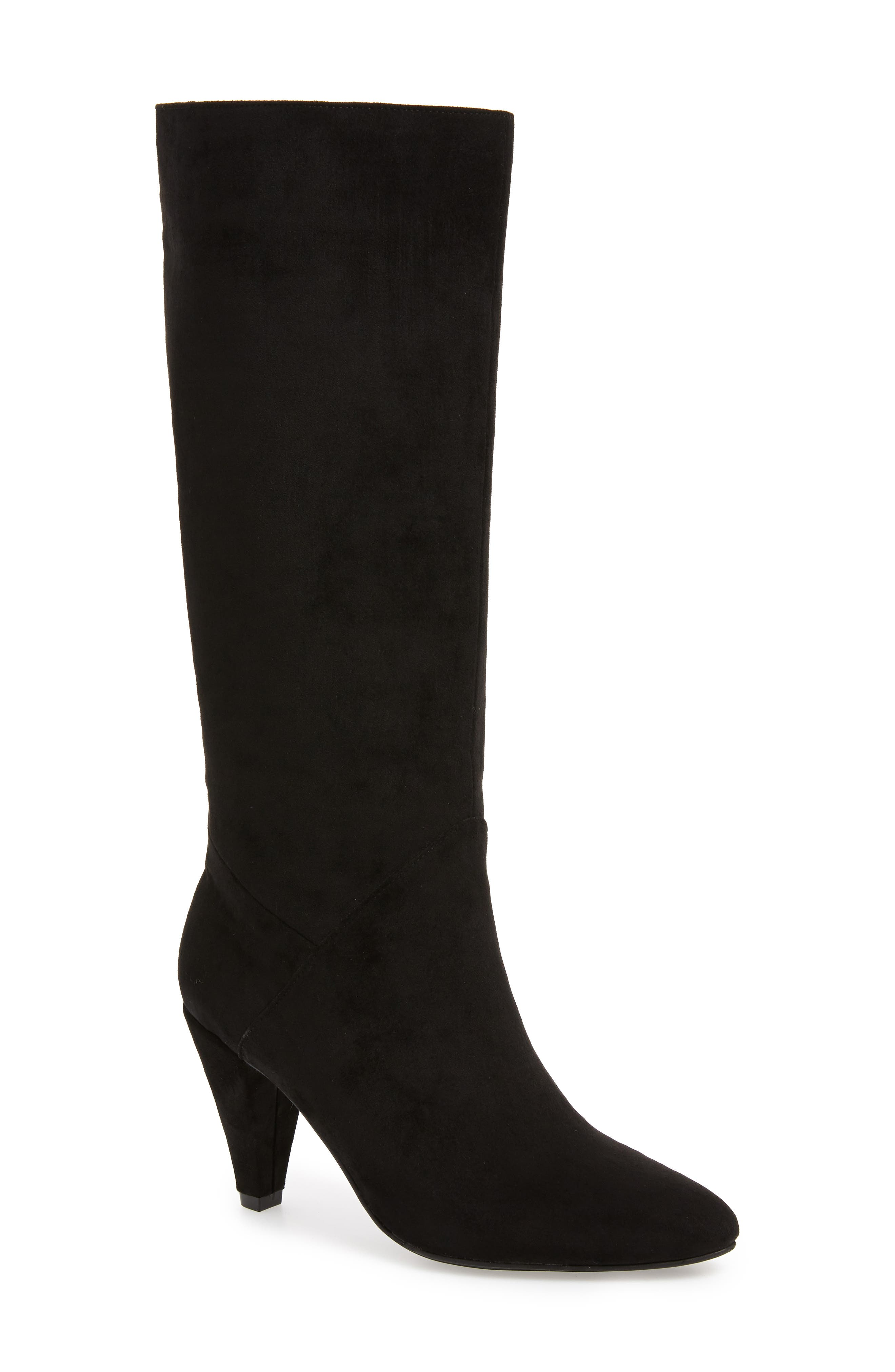 Jeffery Campbell Candle Knee High Boot, Main, color, BLACK FAUX SUEDE