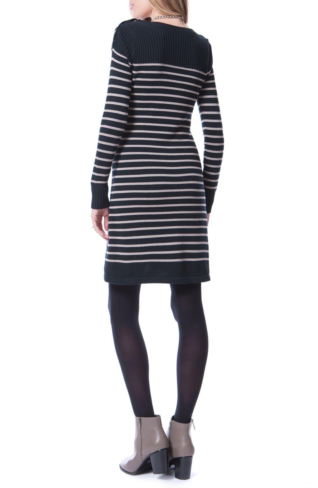 Hayden Stripe Maternity/Nursing Dress,                             Alternate thumbnail 2, color,                             004