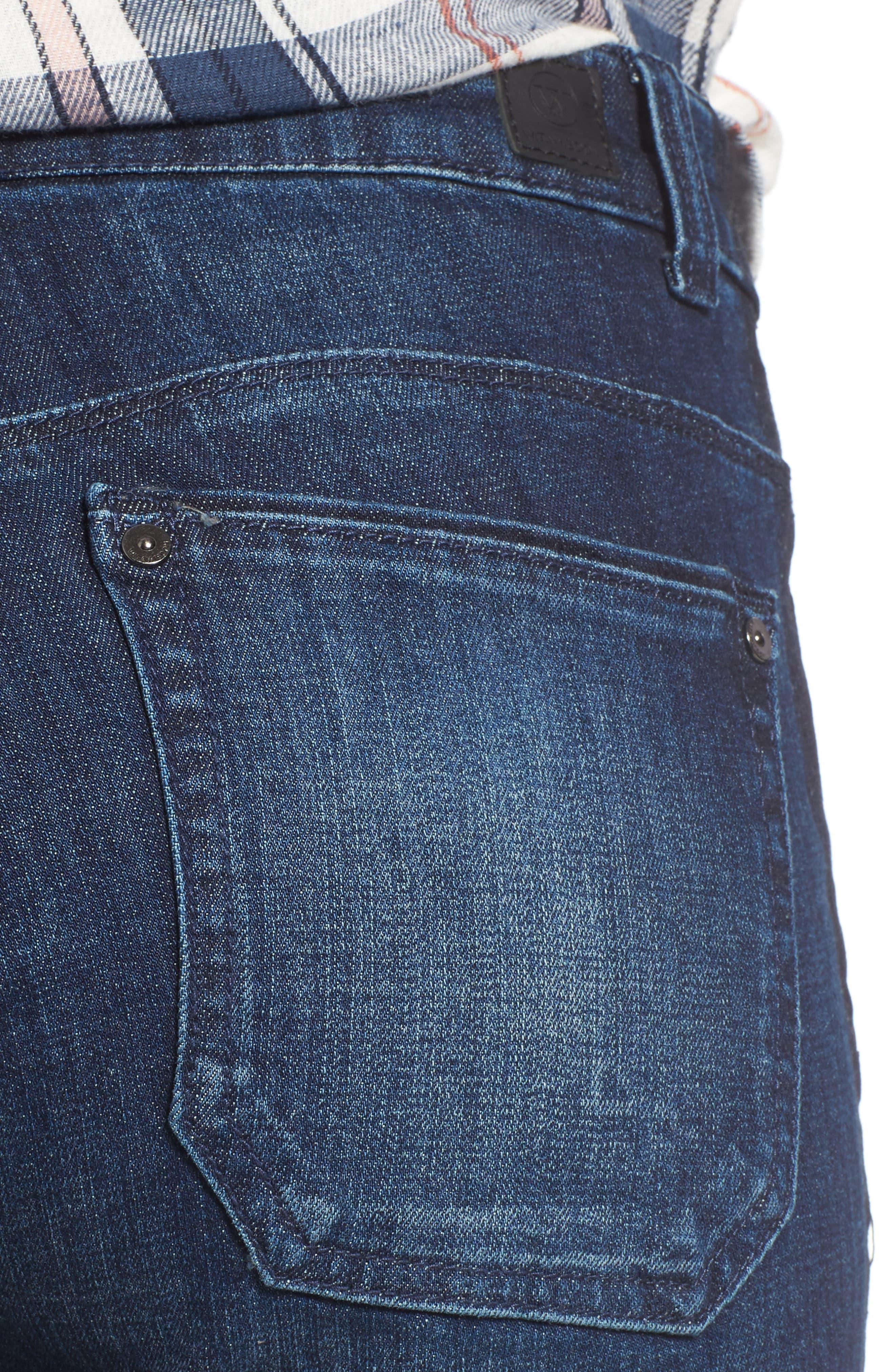 Tuxedo Stripe Skinny Jeans,                             Alternate thumbnail 8, color,