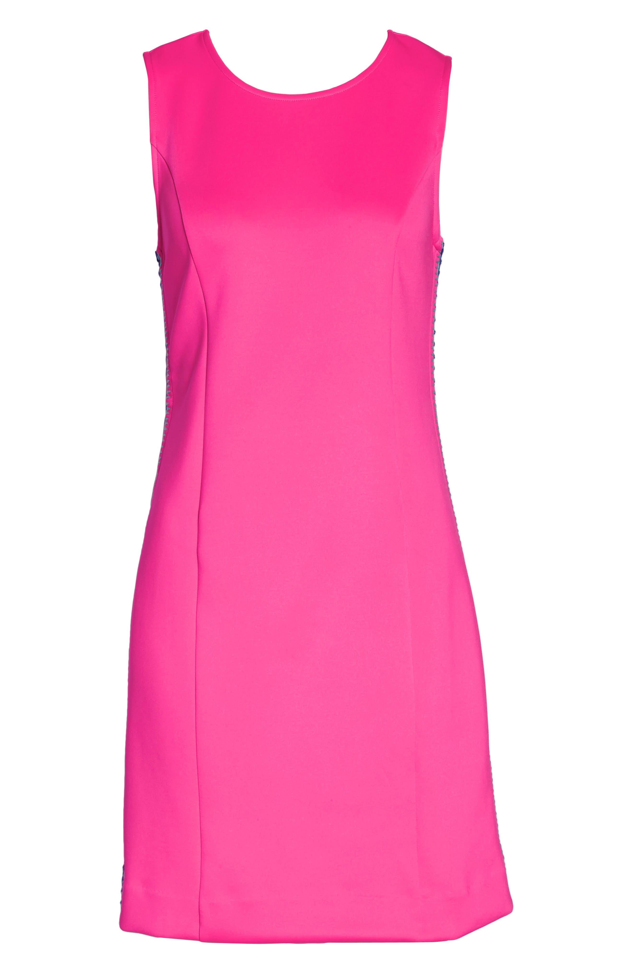 Mila Sheath Dress,                             Alternate thumbnail 7, color,                             RAZ BERRY
