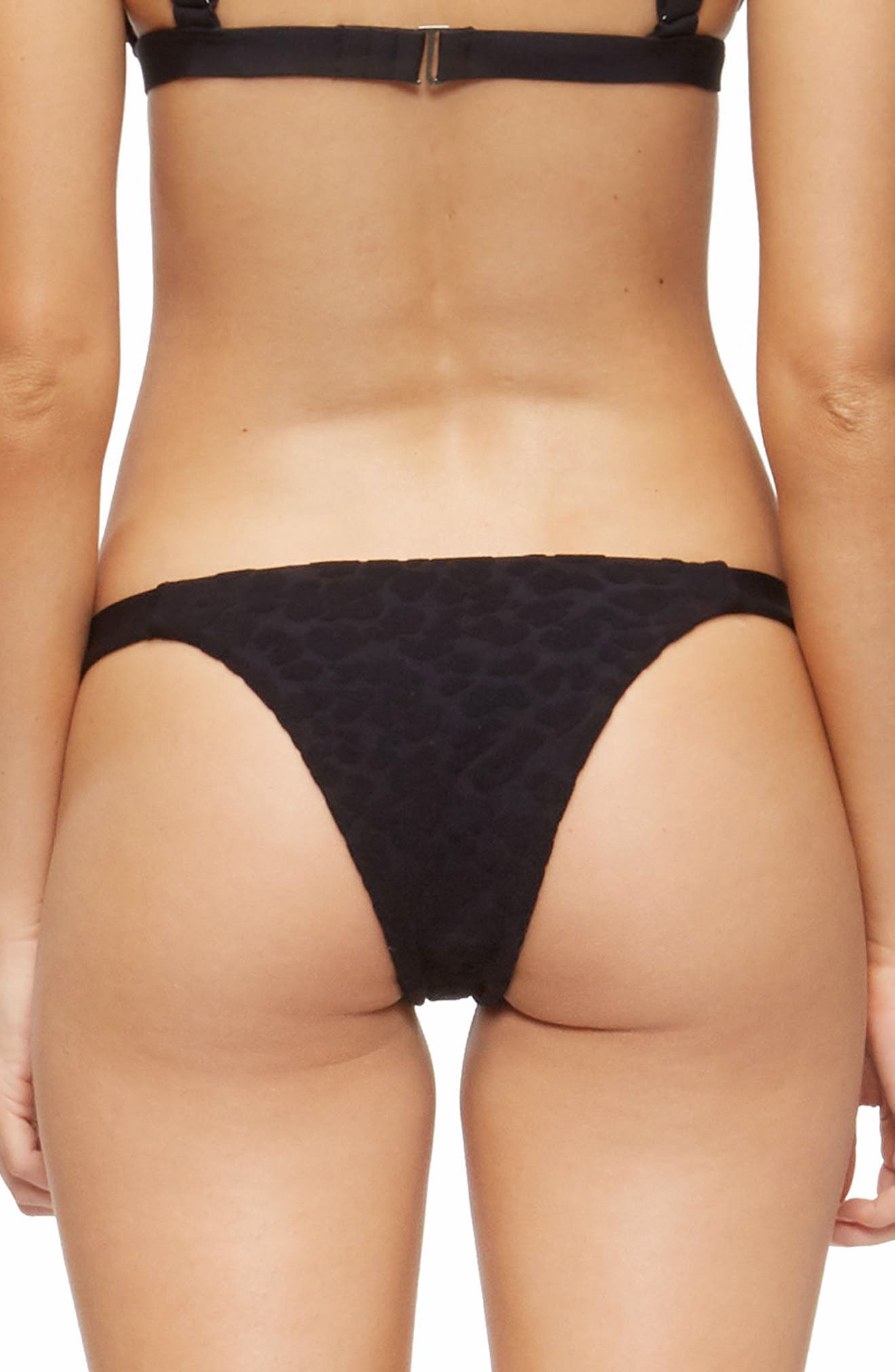 Heather Bikini Bottoms,                             Alternate thumbnail 2, color,                             TEXTURED CHEETAH BLACK