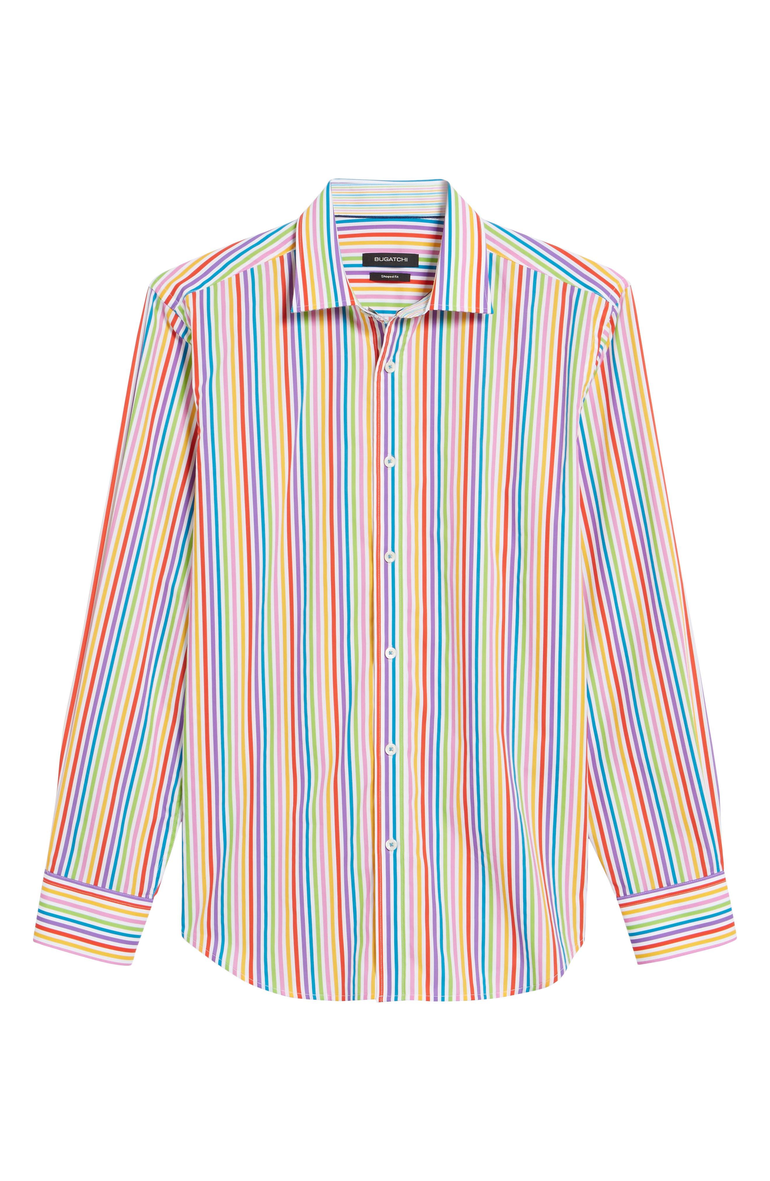 BUGATCHI,                             Classic Fit Woven Sport Shirt,                             Alternate thumbnail 6, color,                             601