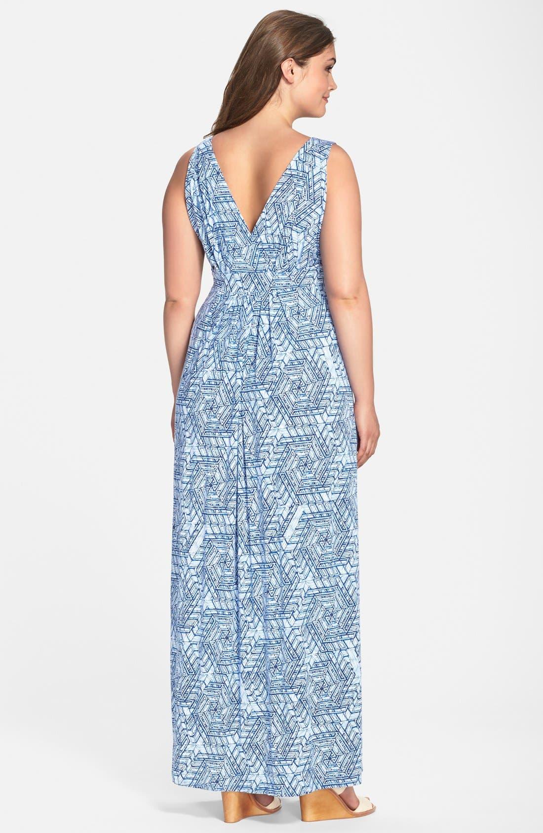 Chloe Empire Waist Maxi Dress,                             Alternate thumbnail 34, color,