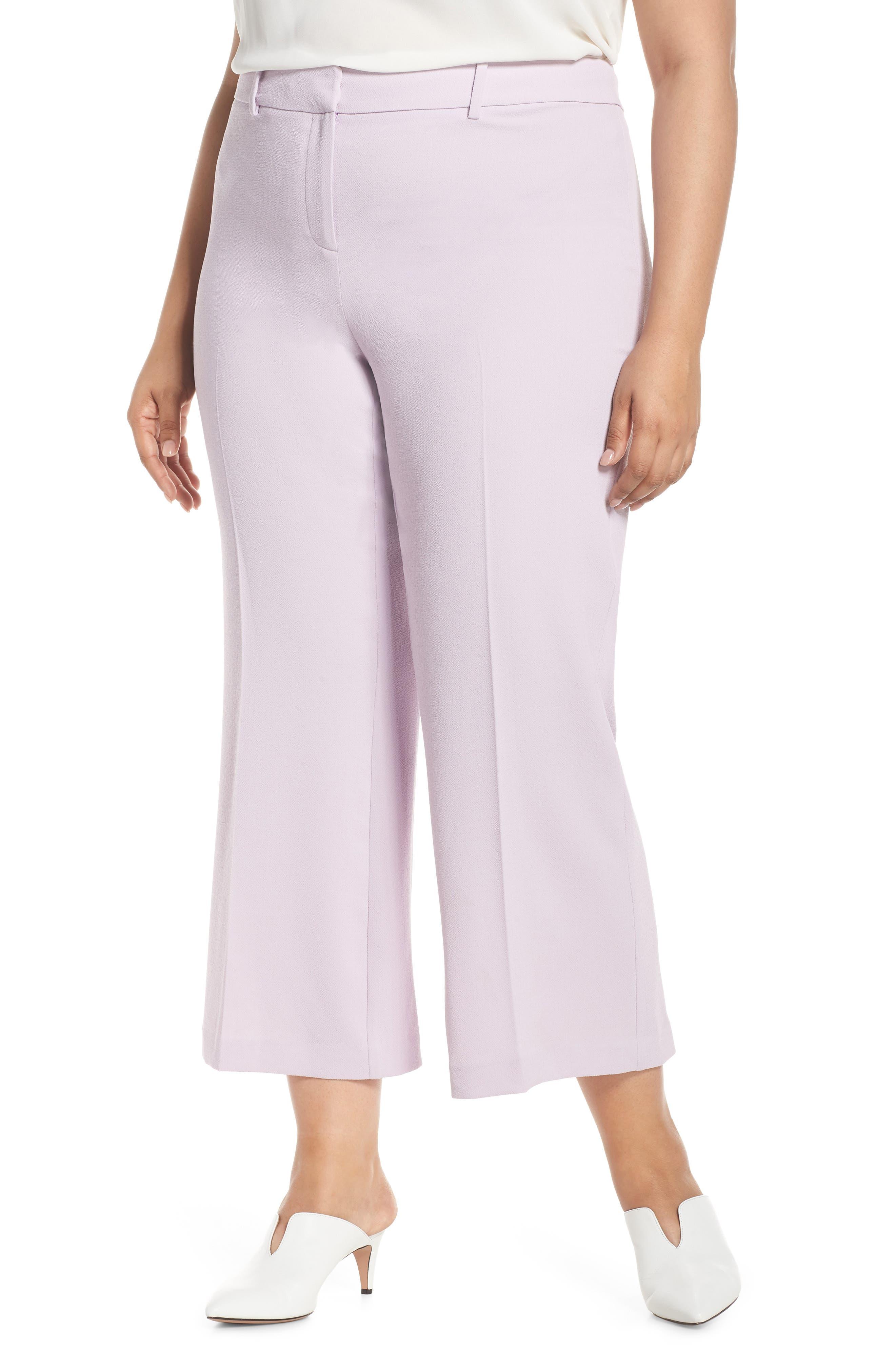 Plus Size 1.state Kick Flare Crop Pants, Purple