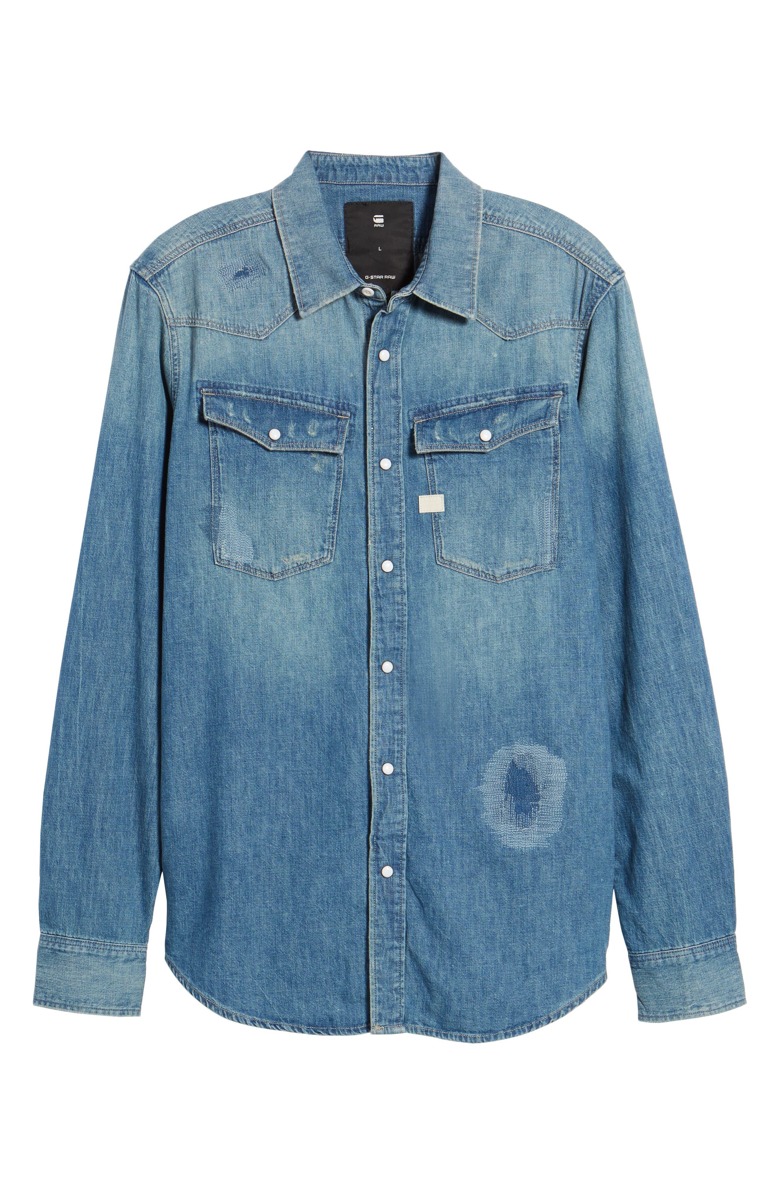 3301 Graft Denim Shirt,                             Alternate thumbnail 6, color,