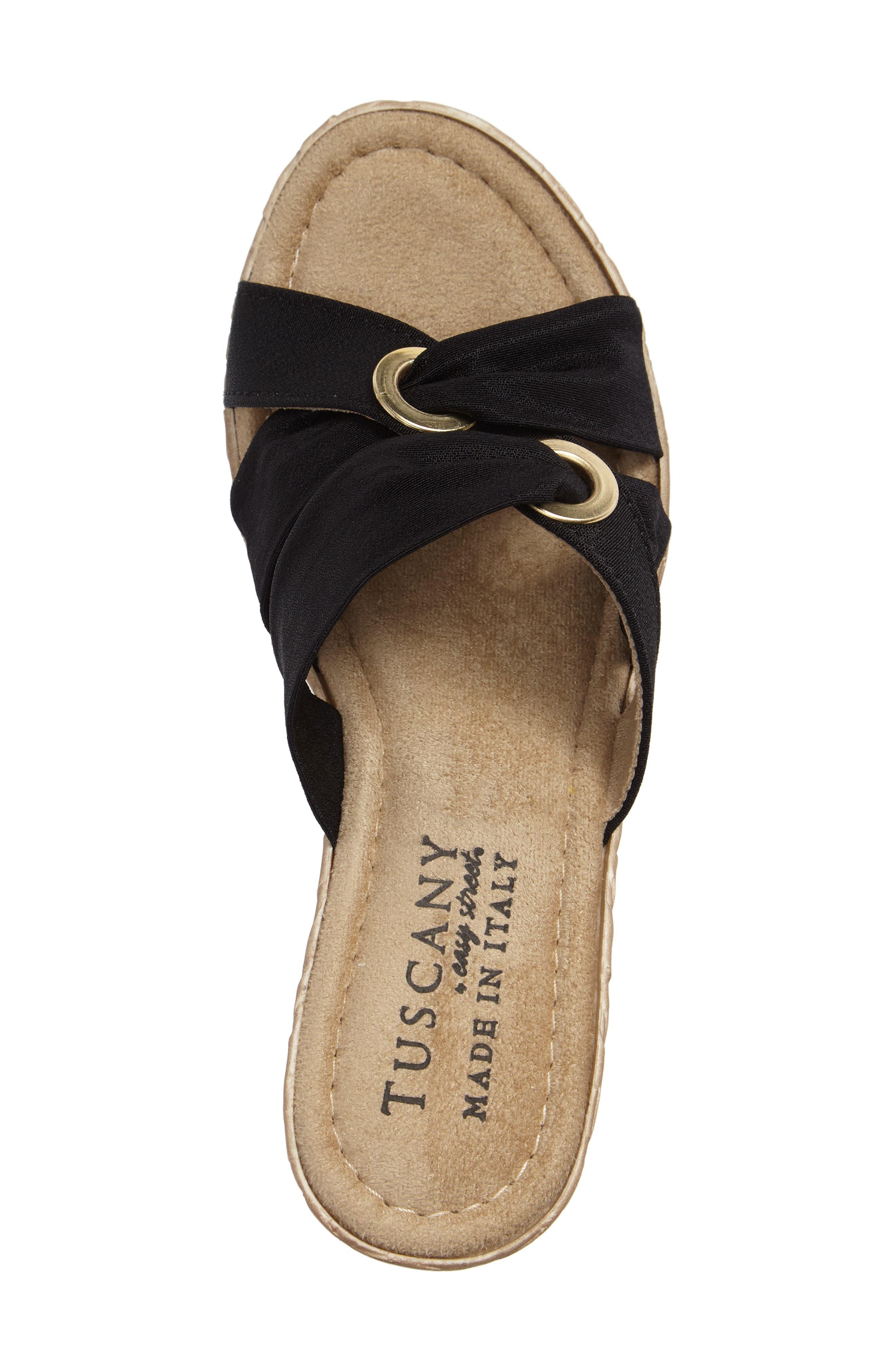 by Easy Street<sup>®</sup> Solaro Platform Wedge Sandal,                             Alternate thumbnail 3, color,                             001