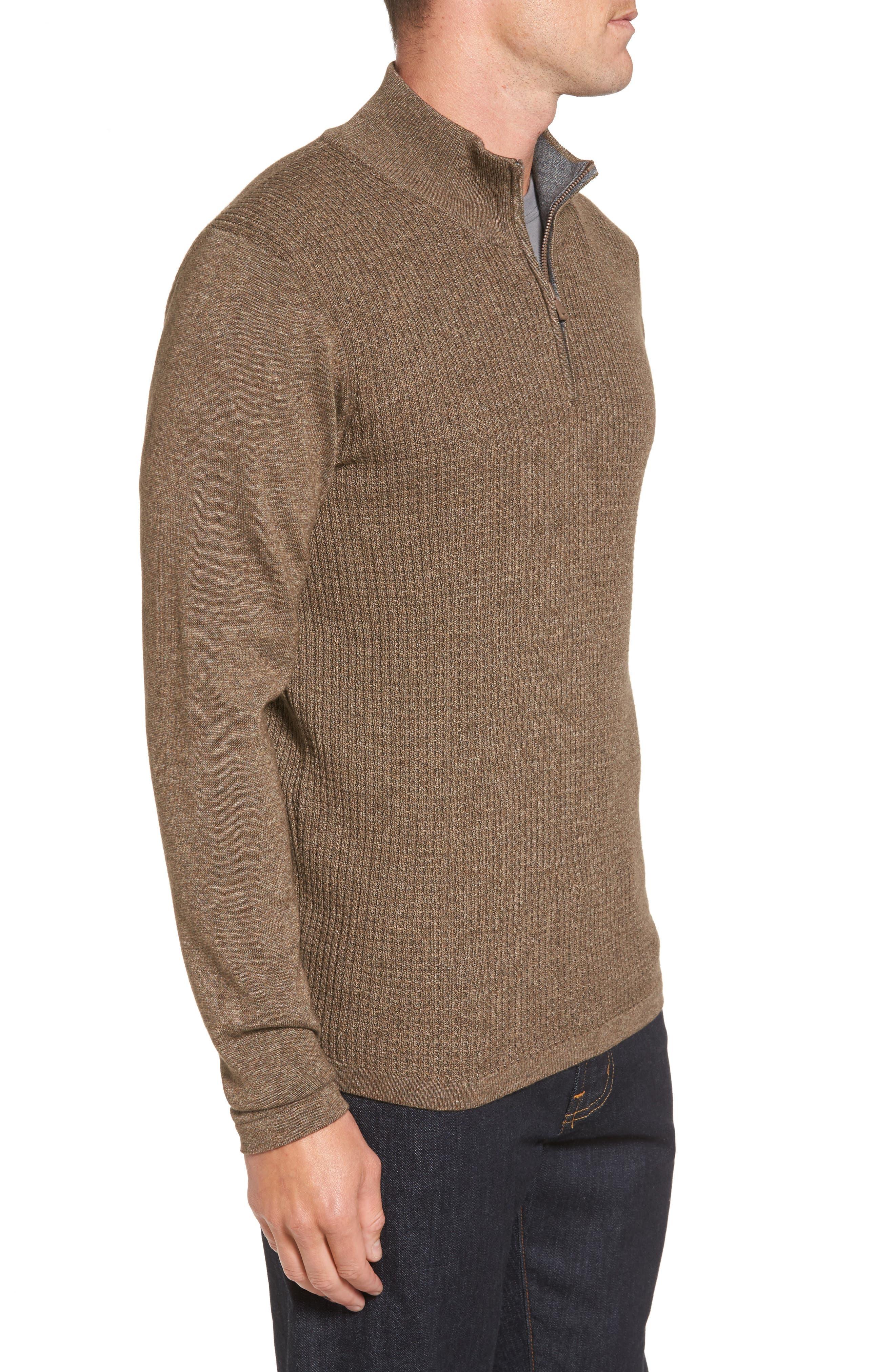Higgins Quarter Zip Sweater,                             Alternate thumbnail 8, color,