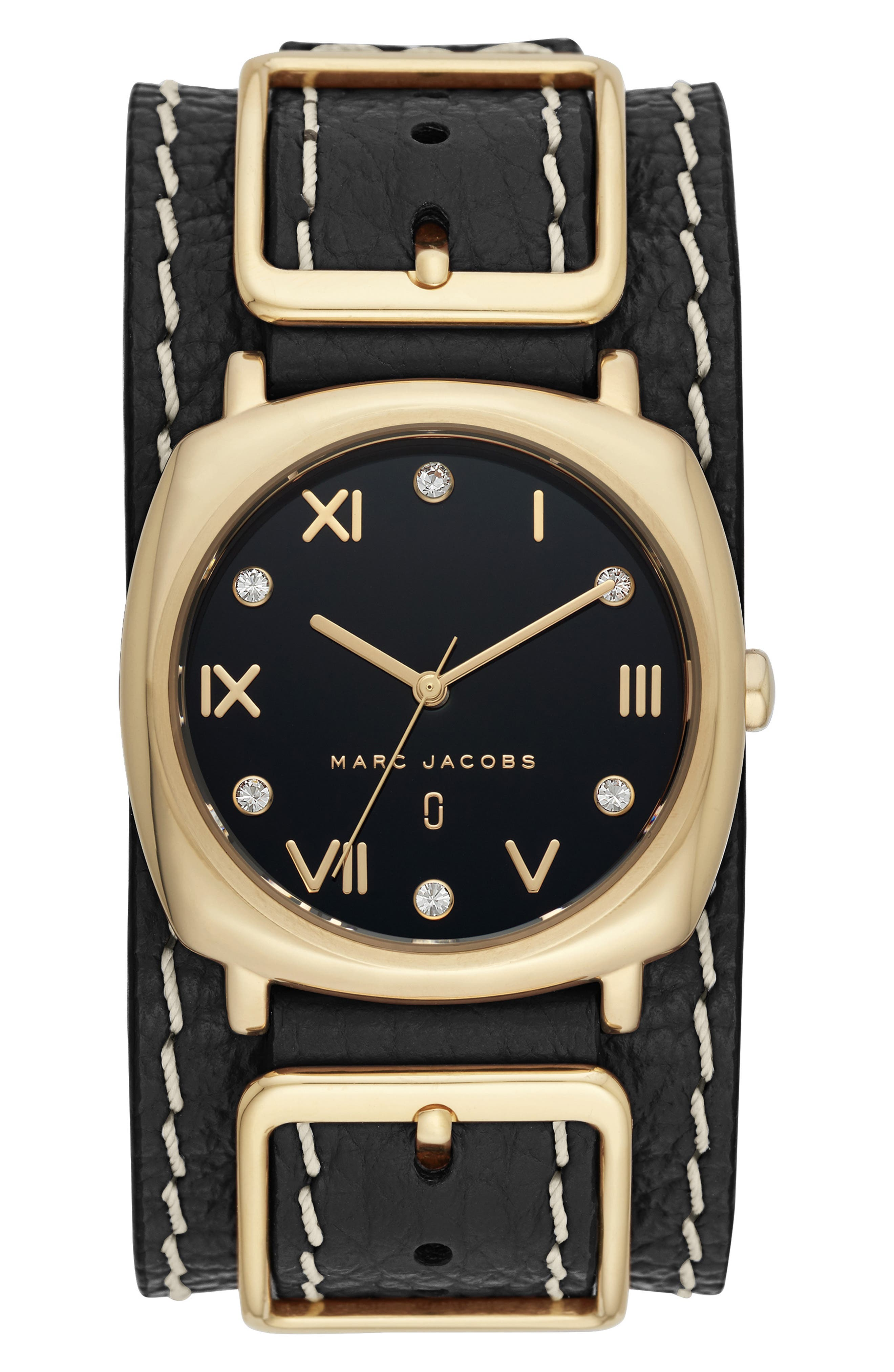 Mandy Leather Strap Watch, 34mm,                             Main thumbnail 1, color,                             001