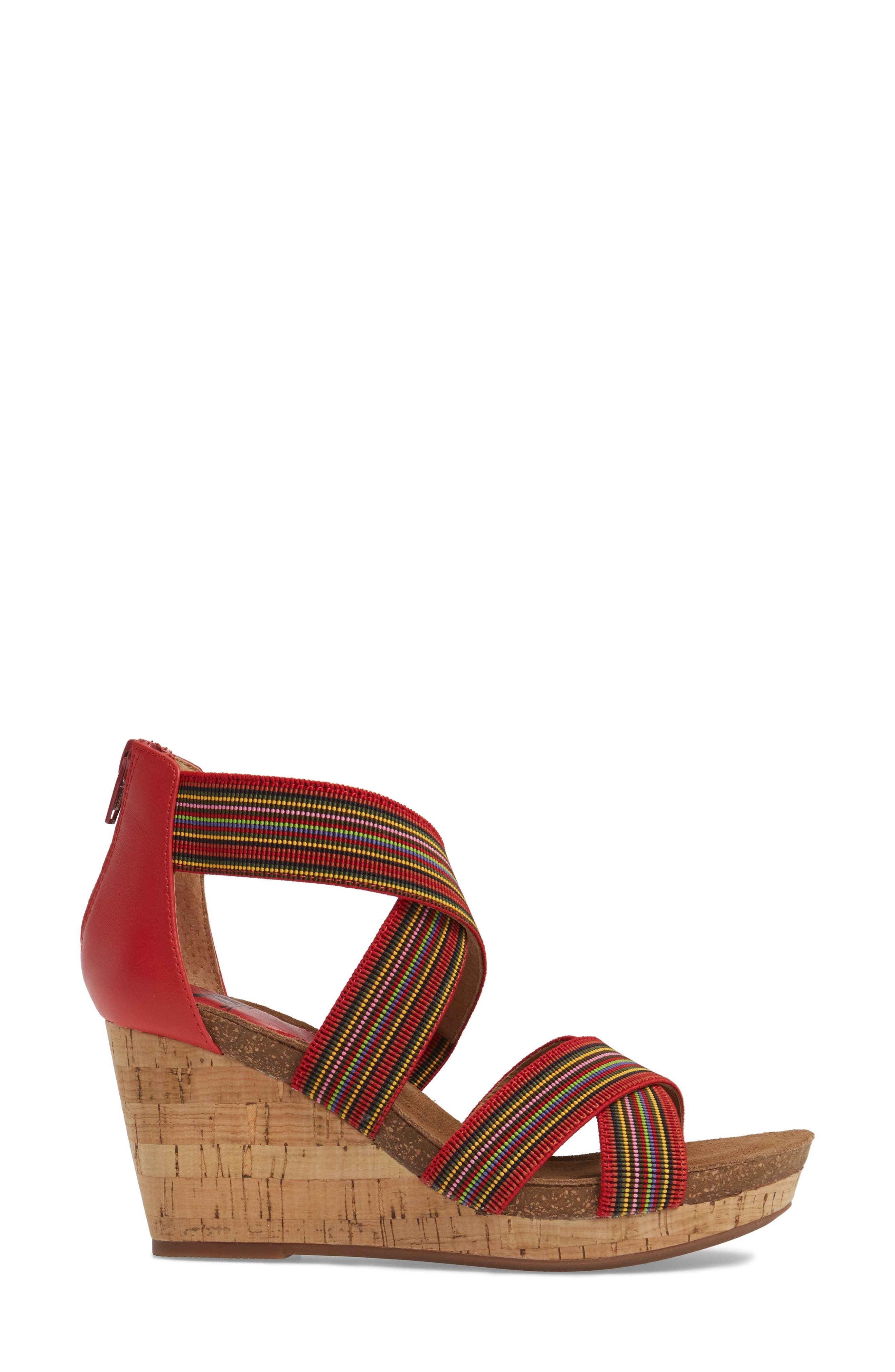 Cary Cross Strap Wedge Sandal,                             Alternate thumbnail 9, color,