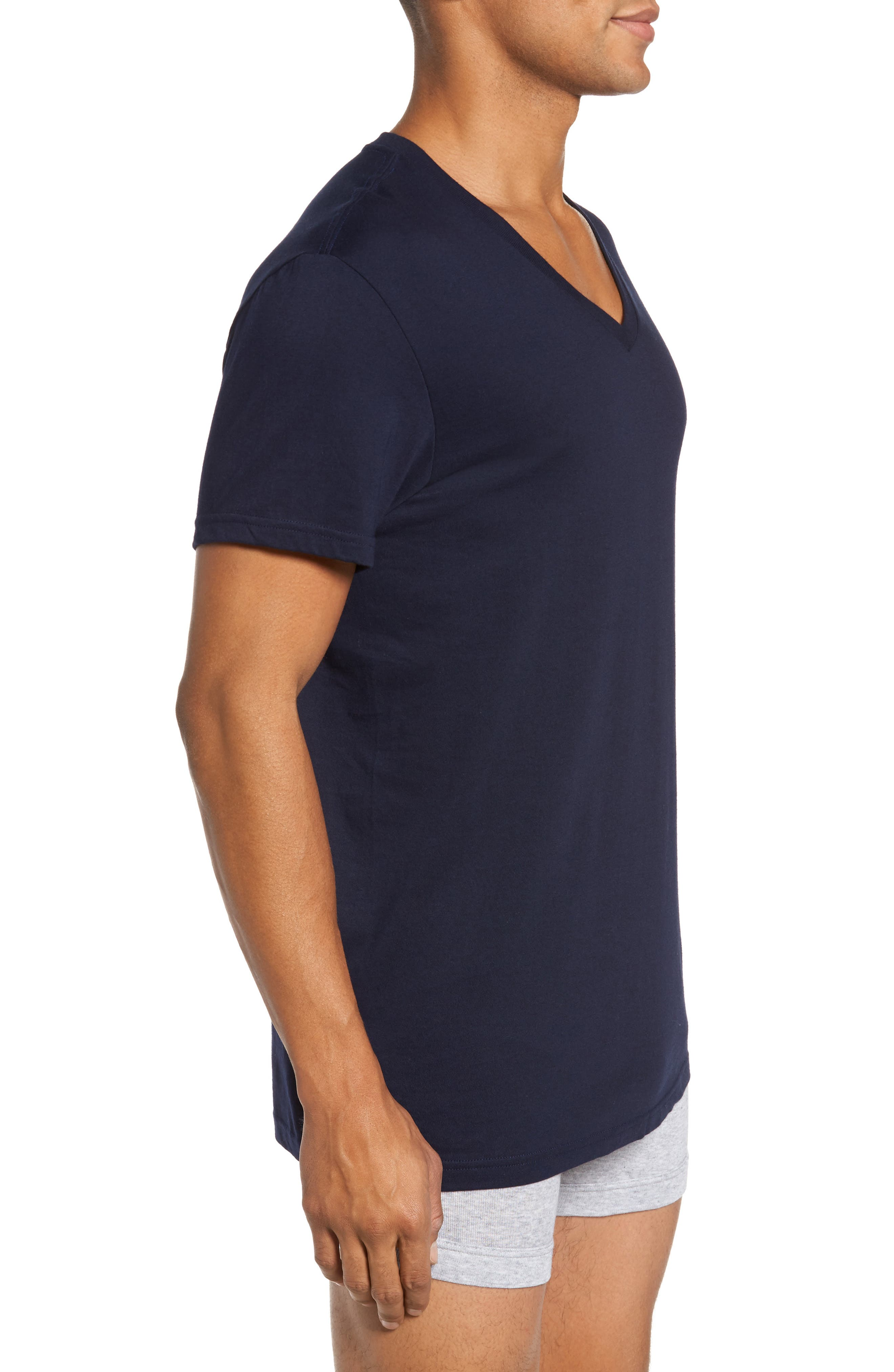 3-Pack V-Neck T-Shirts,                             Alternate thumbnail 3, color,                             111