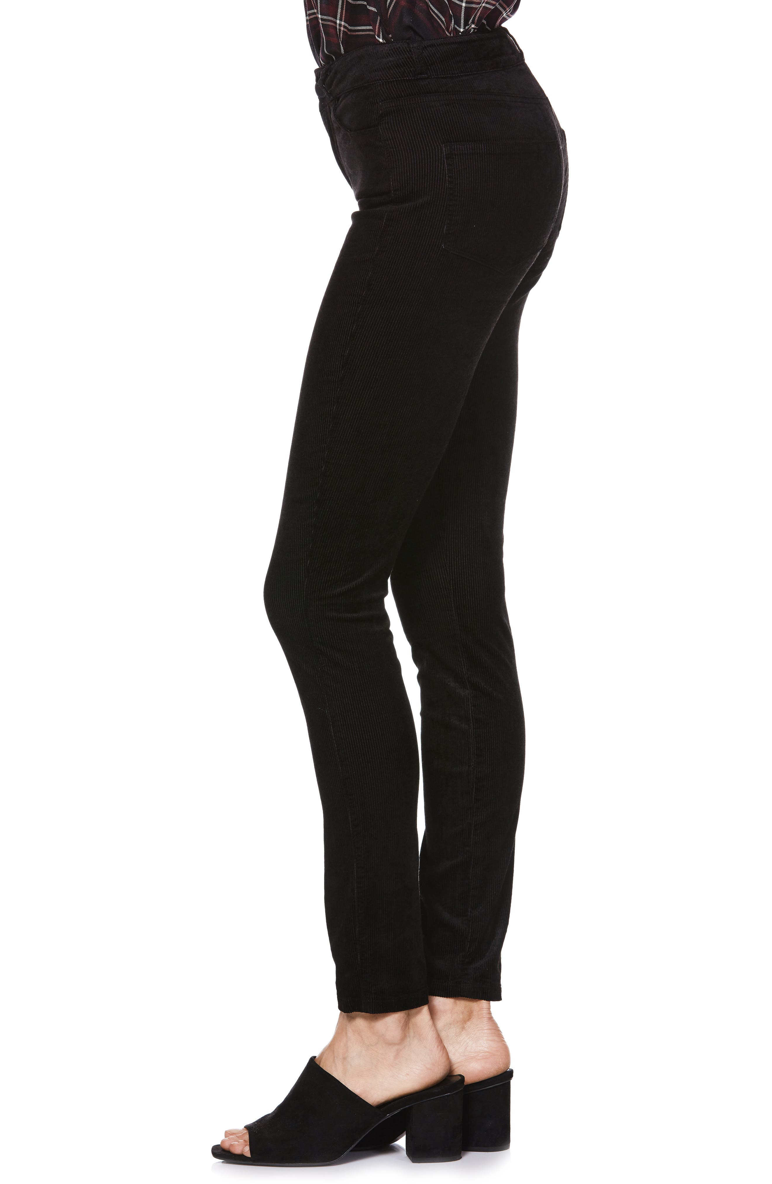 Transcend - Hoxton High Waist Ultra Skinny Jeans,                             Alternate thumbnail 3, color,                             001