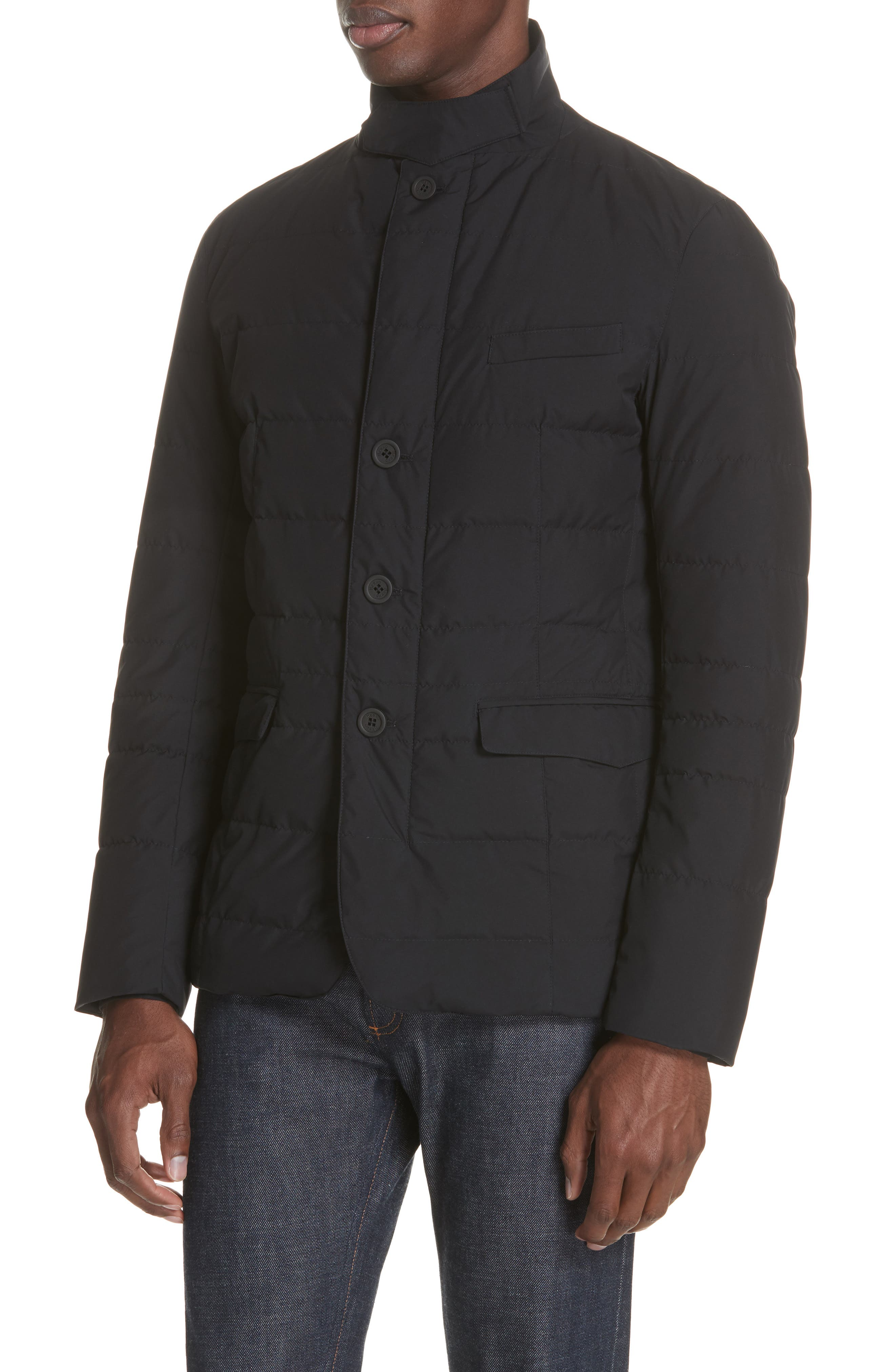 Gore-Tex<sup>®</sup> Windstopper Down Jacket,                             Alternate thumbnail 4, color,                             001
