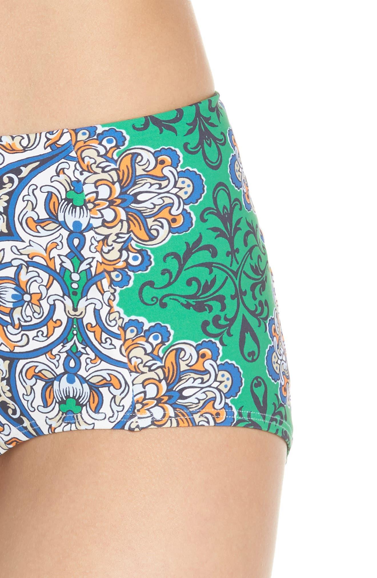 High Waist Bikini Bottoms,                             Alternate thumbnail 4, color,                             GRAND VOYAGE CLASSIC