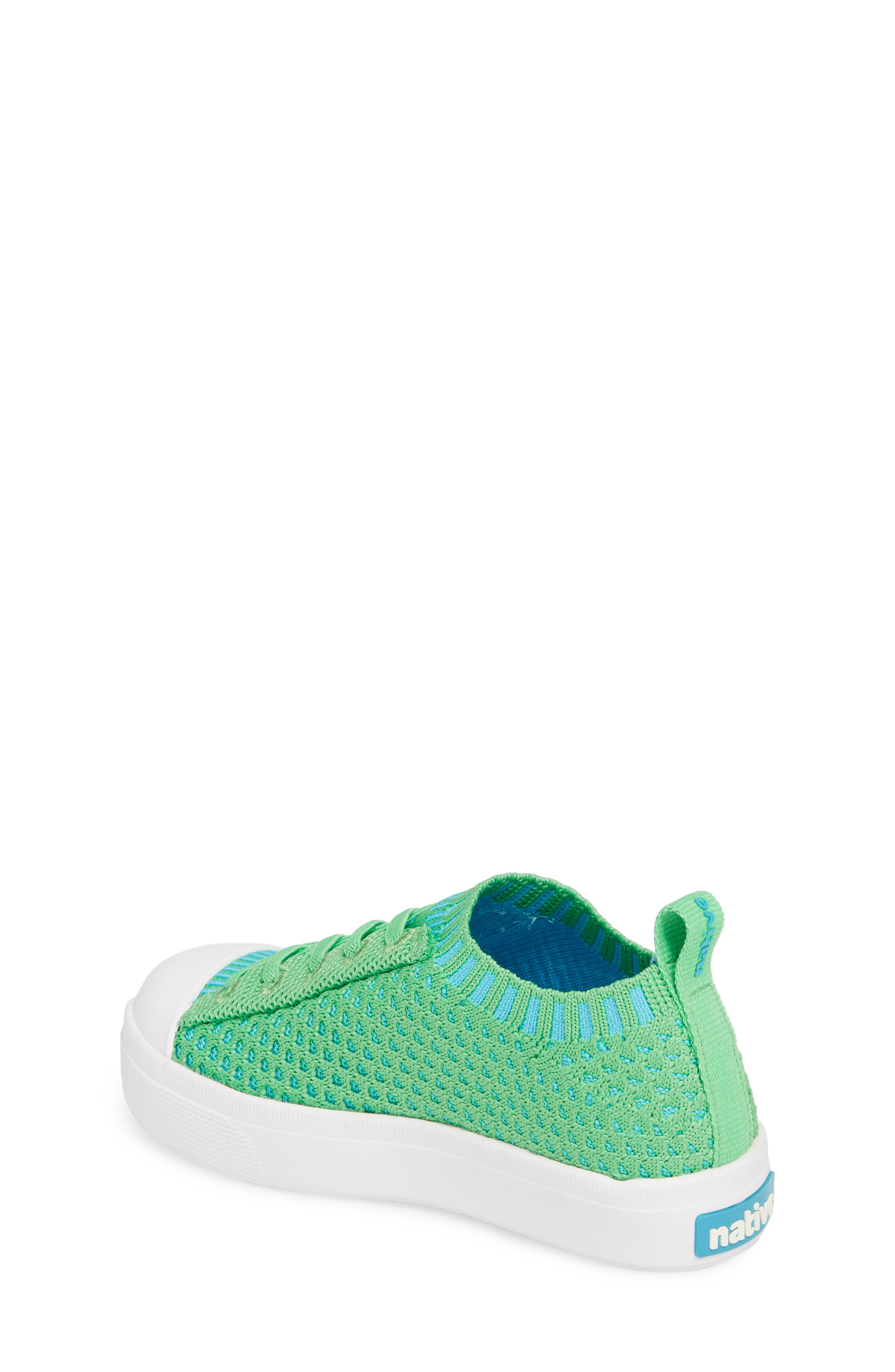 Native Jefferson 2.0 LiteKnit Sneaker,                             Alternate thumbnail 2, color,                             GRASS GREEN/ SHELL WHITE