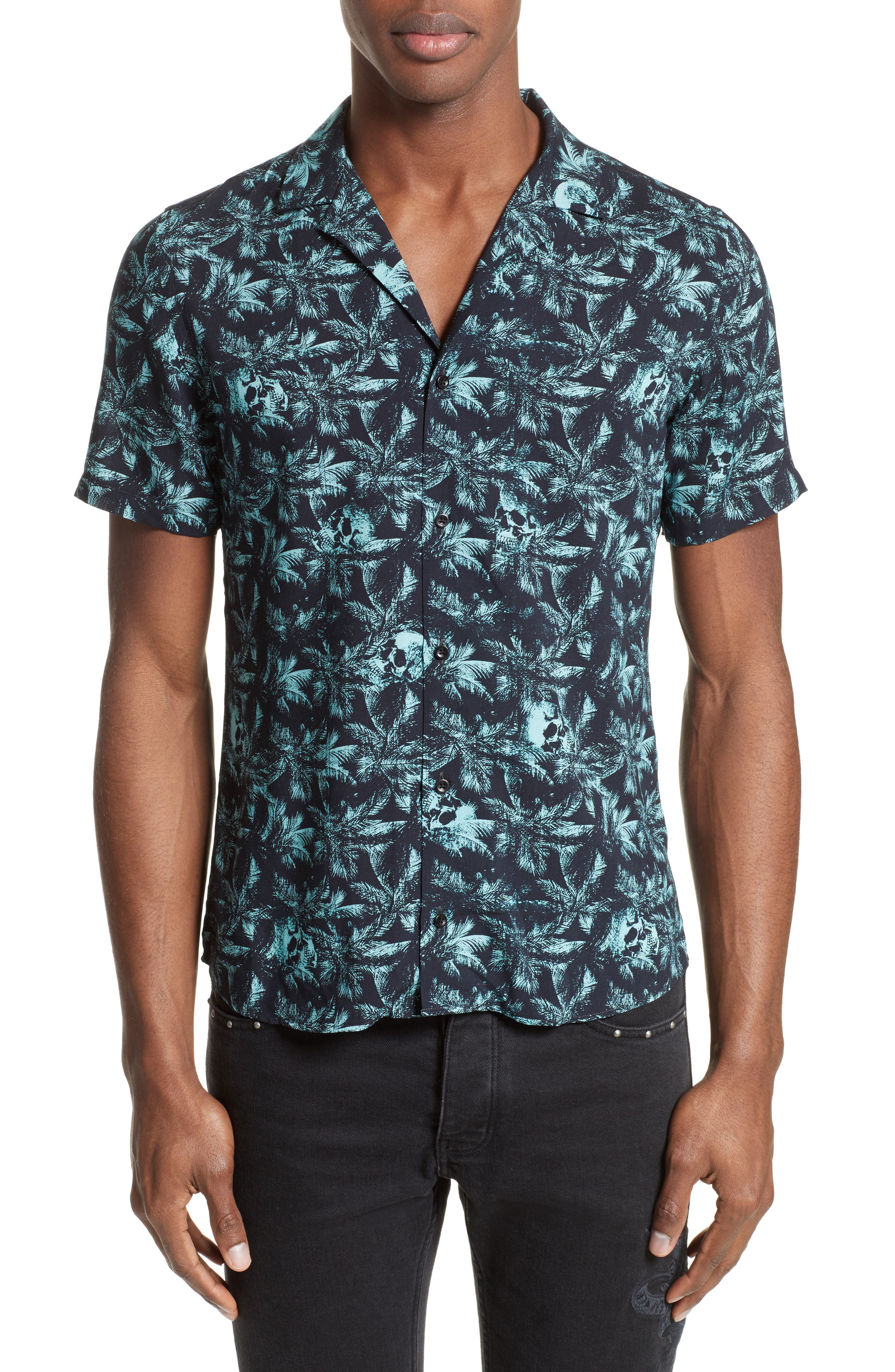 Hawaiian Collar Print Shirt,                         Main,                         color, 400