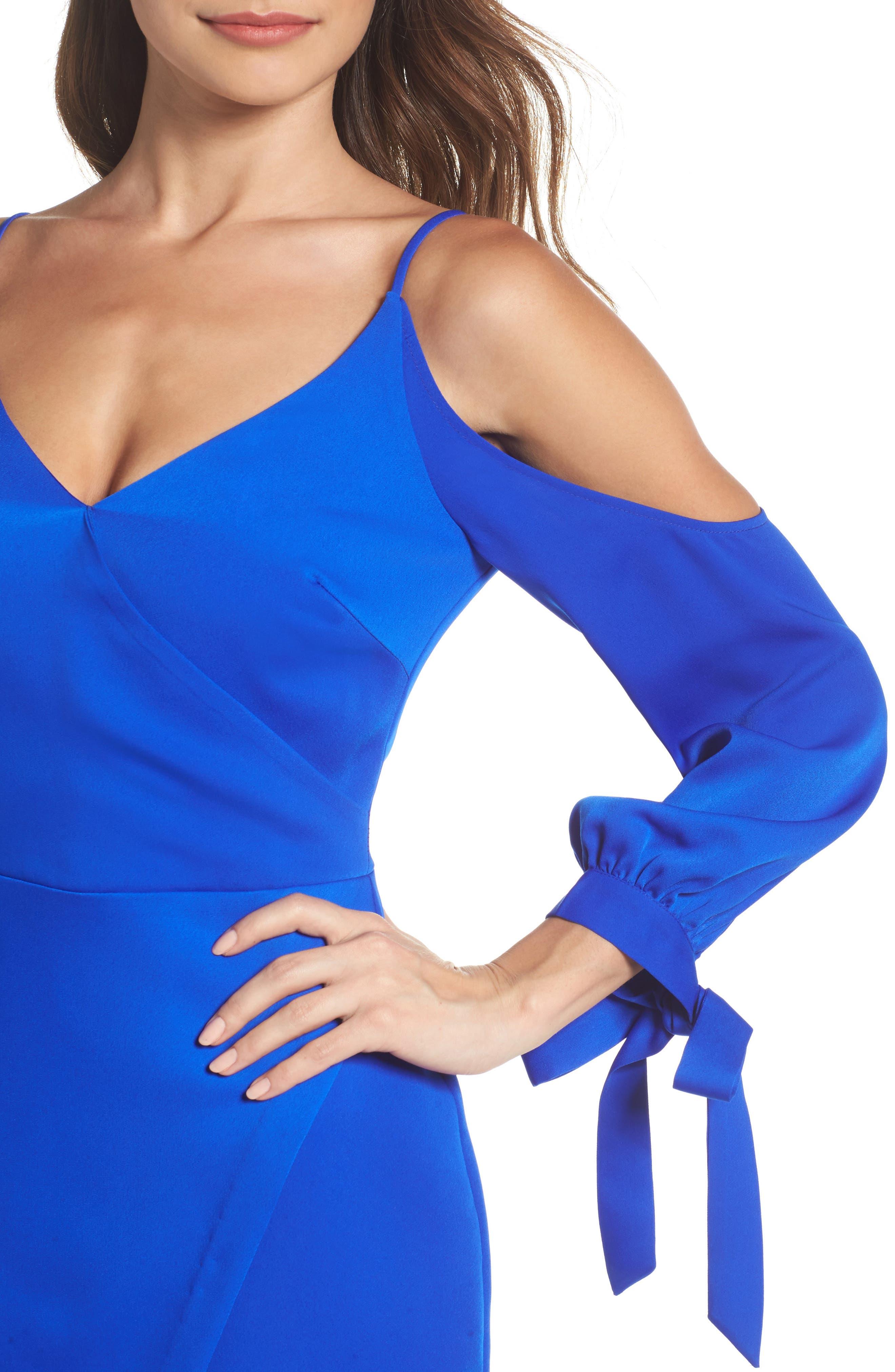 Amelia Cold Shoulder Sheath Dress,                             Alternate thumbnail 4, color,                             600