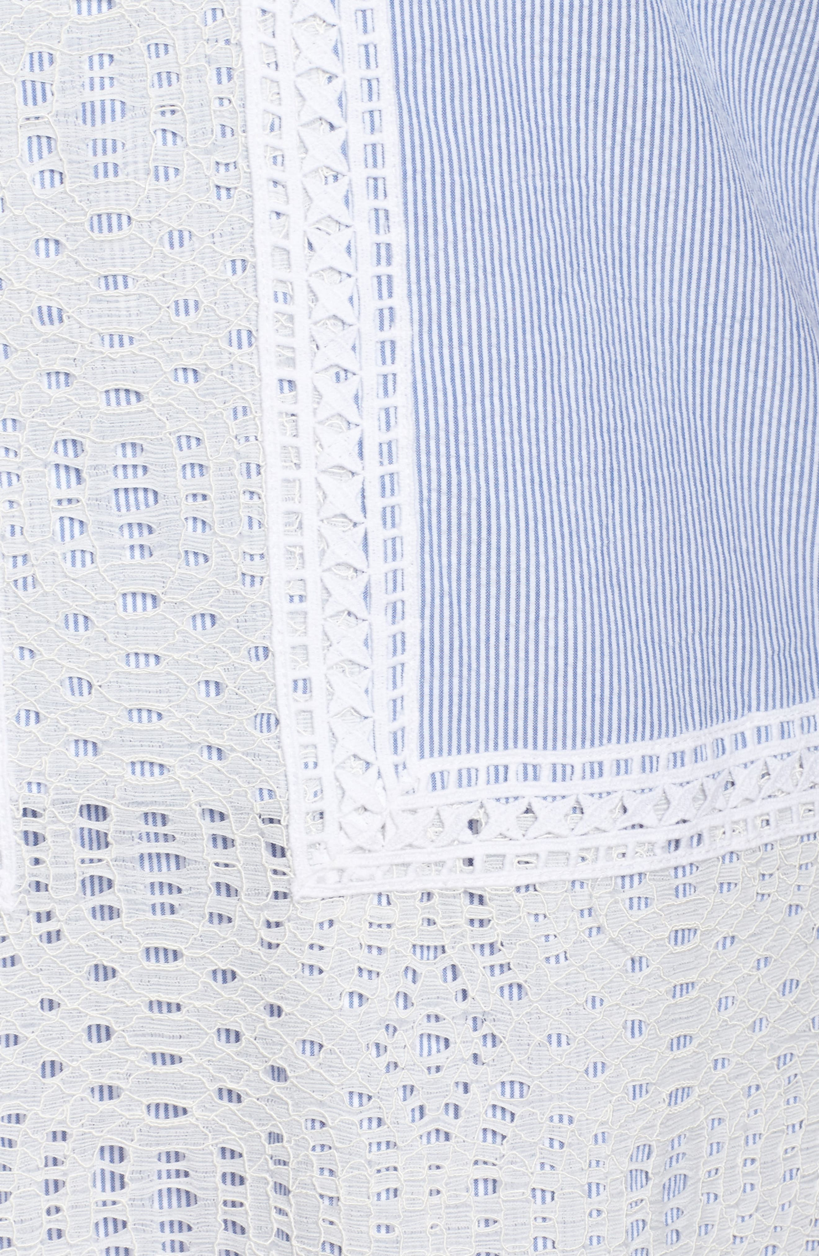 Lace Overlay Shift Dress,                             Alternate thumbnail 5, color,                             425