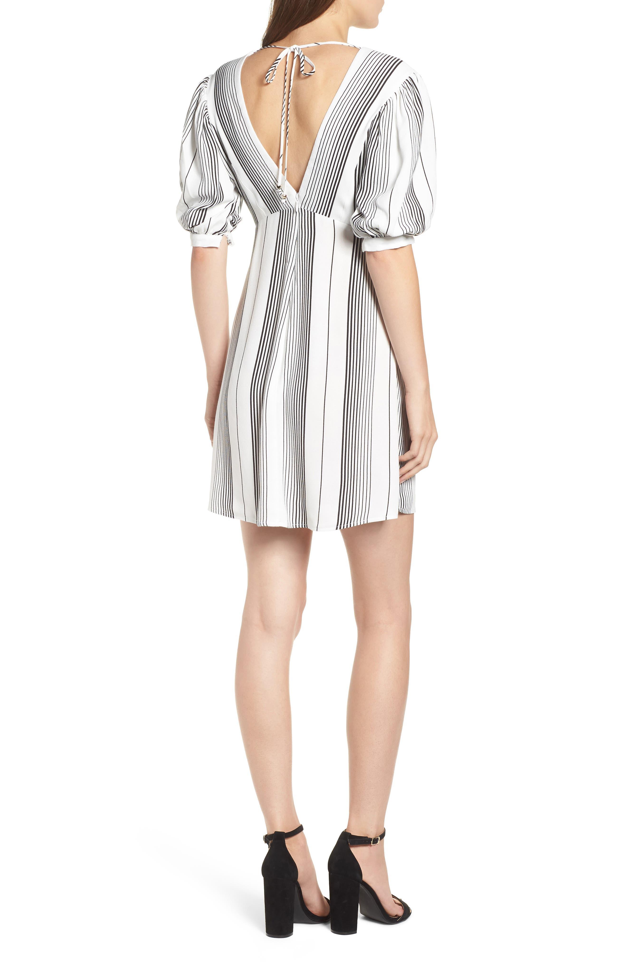 Jolie Minidress,                         Main,                         color, BLANC STRIPE