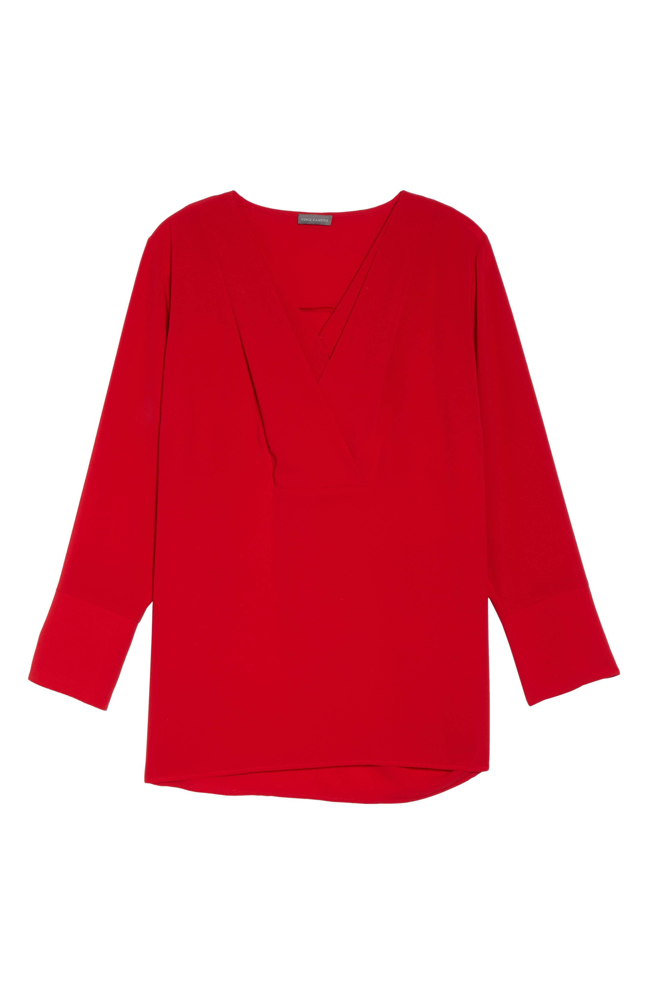 Double V-Neck Blouse,                             Alternate thumbnail 17, color,