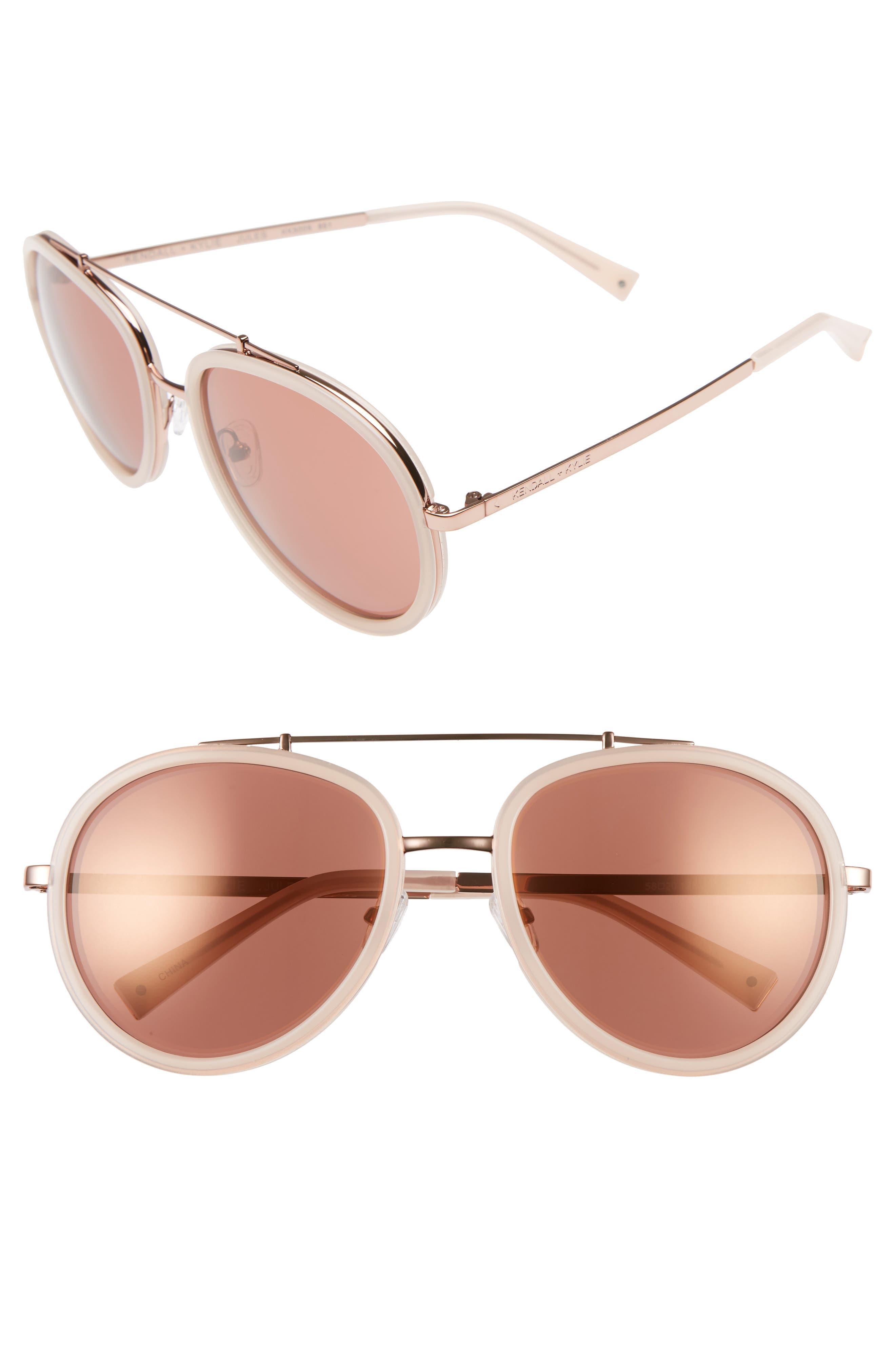 Jules 58mm Aviator Sunglasses,                             Main thumbnail 4, color,